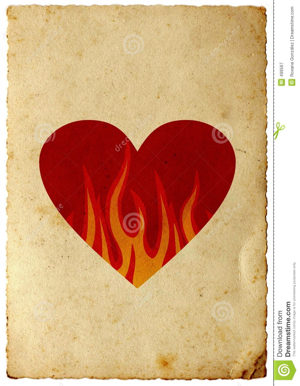 Hearts With Flames Around It