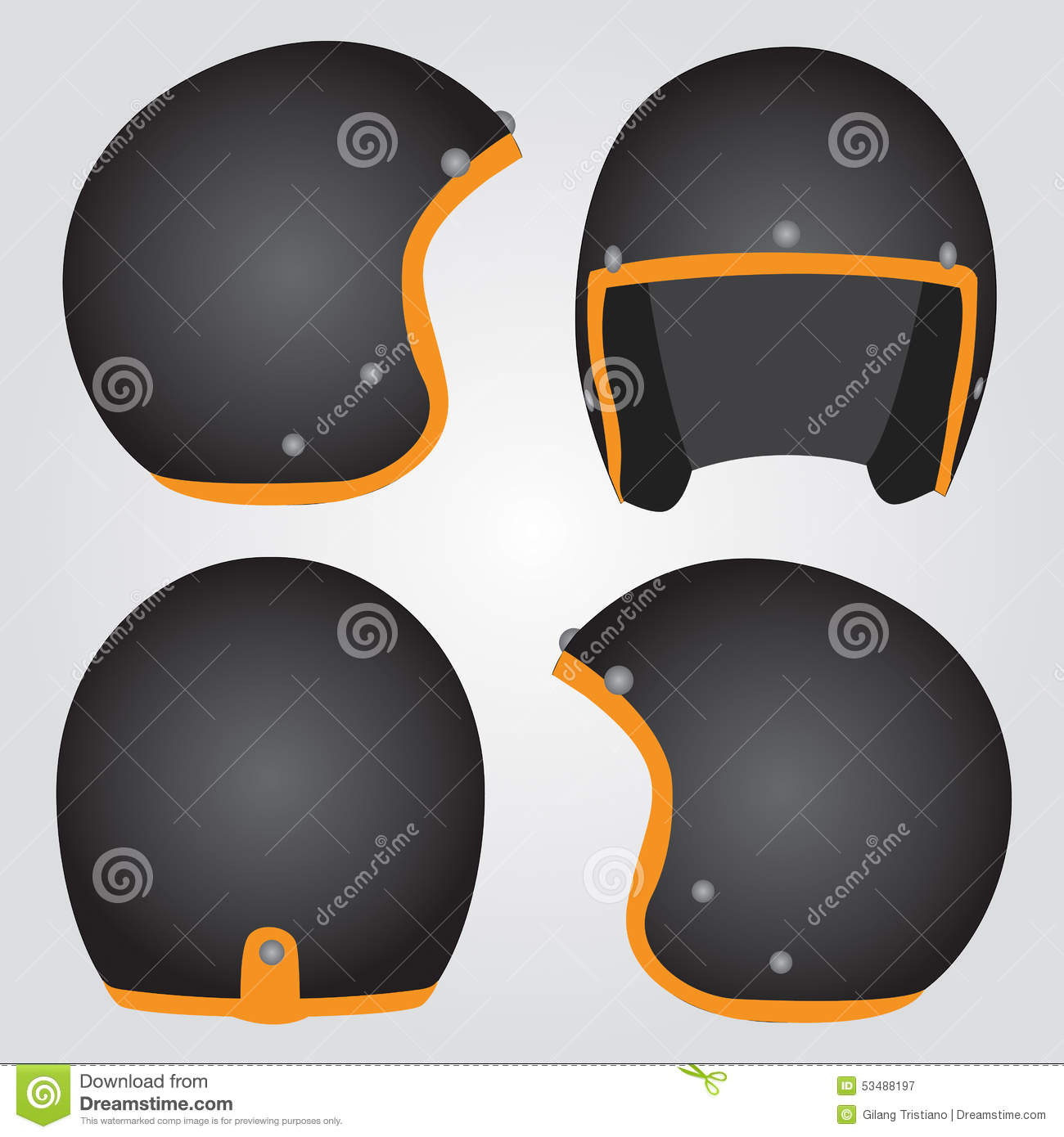 Retro Helmet Stock Illustration - Image: 53488197
