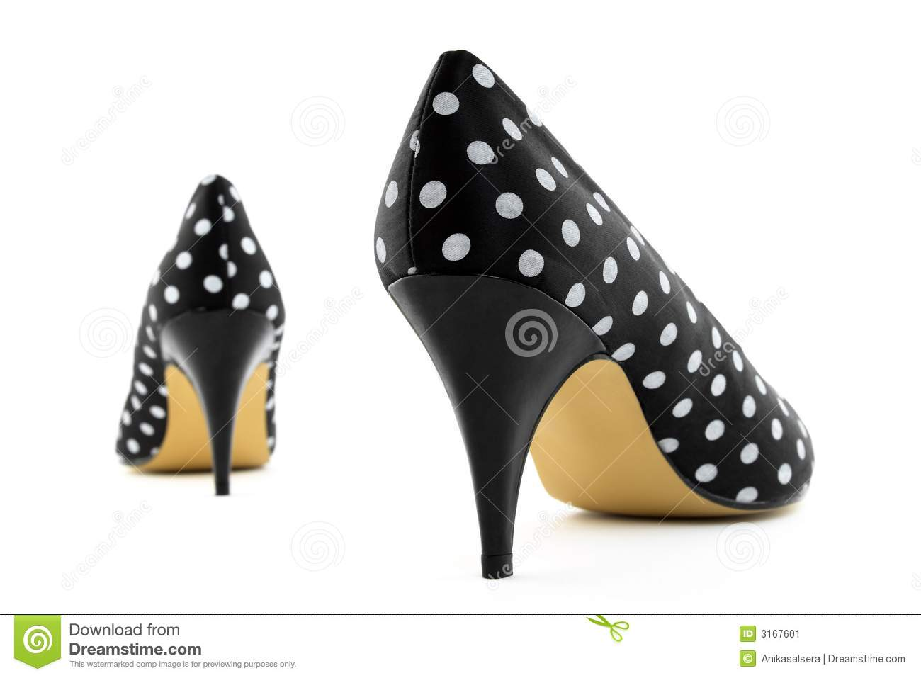 retro high heel polka shoes stock image image 3167601