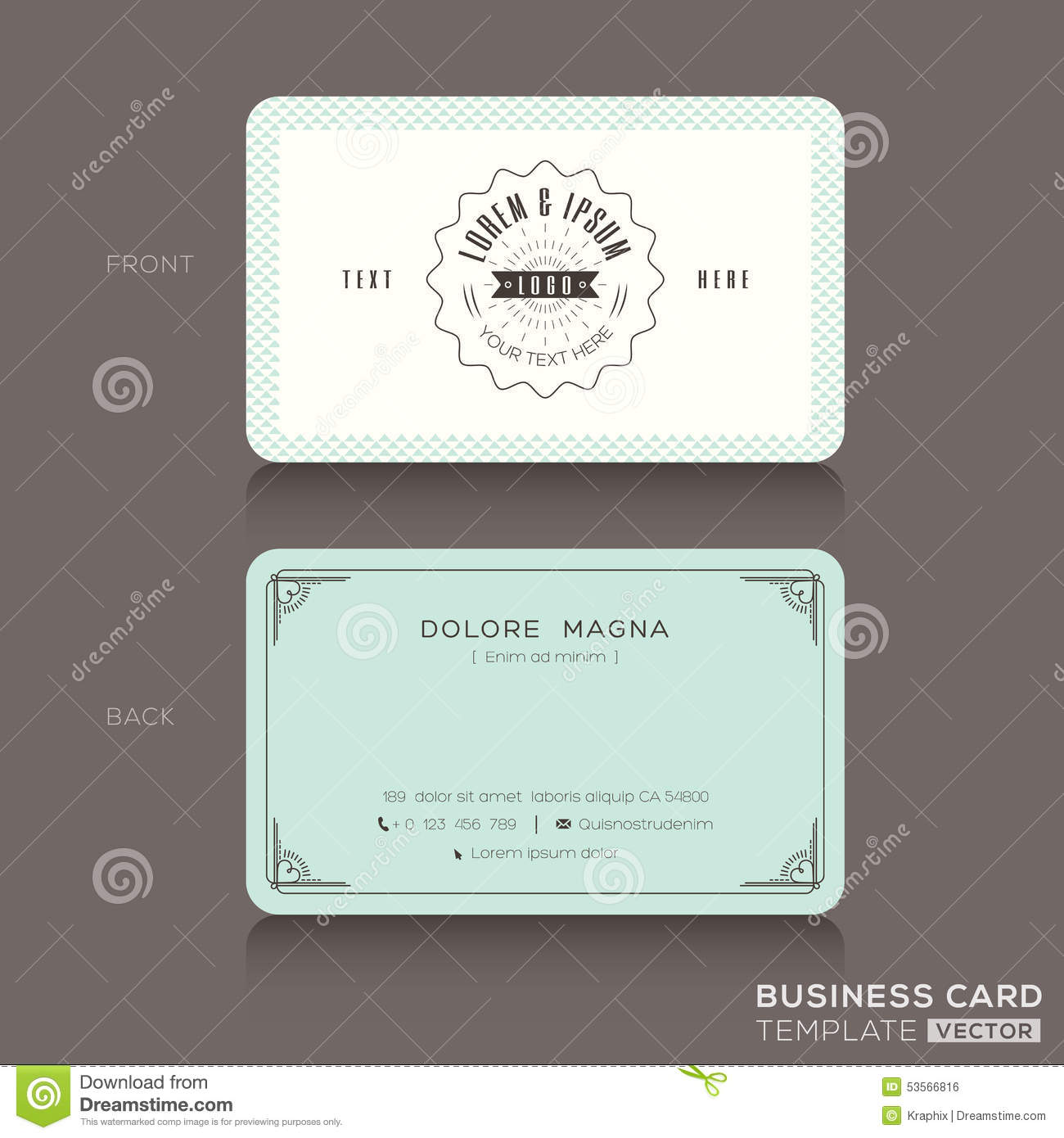 Hipster business cards business card design inspiration for Retro business card template