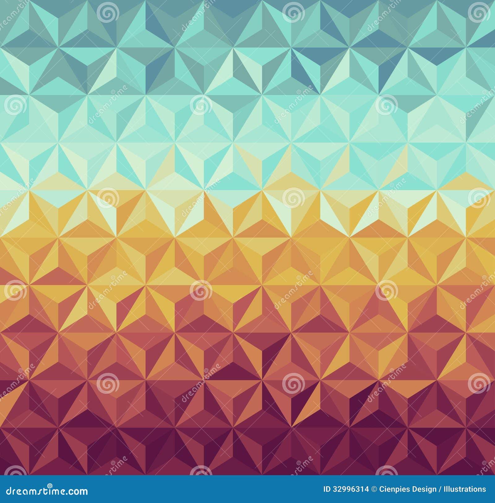 Retro hipsters geometrisch patroon.
