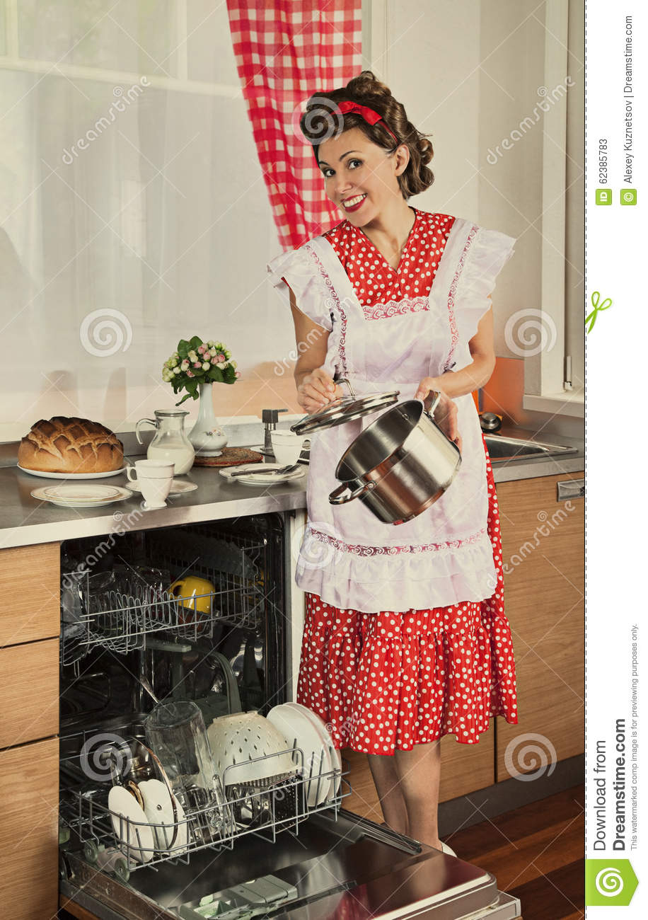 Retro housewife at home stock photo image 62385783 for Classic housewife