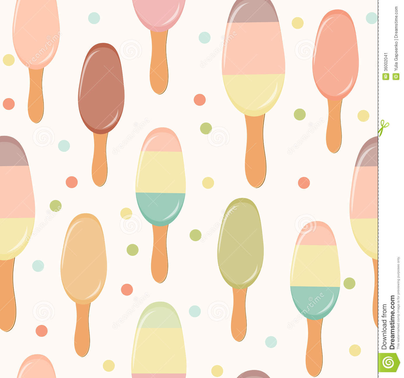 Seamless Ice Cream Wallpaper Royalty Free Stock Images: Retro Ice Cream Seamless Pattern Background. Stock Vector