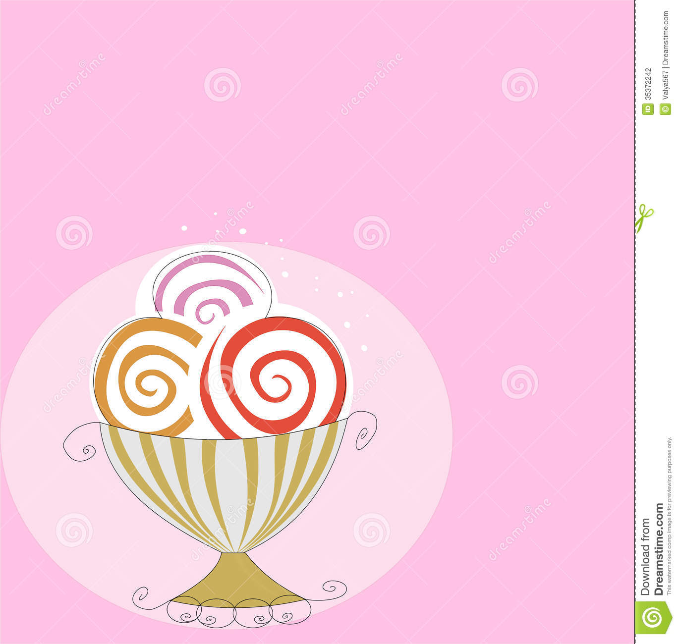 Download Melting Ice Cream Wallpaper Gallery: Retro Ice Cream Stock Illustration. Illustration Of Retro