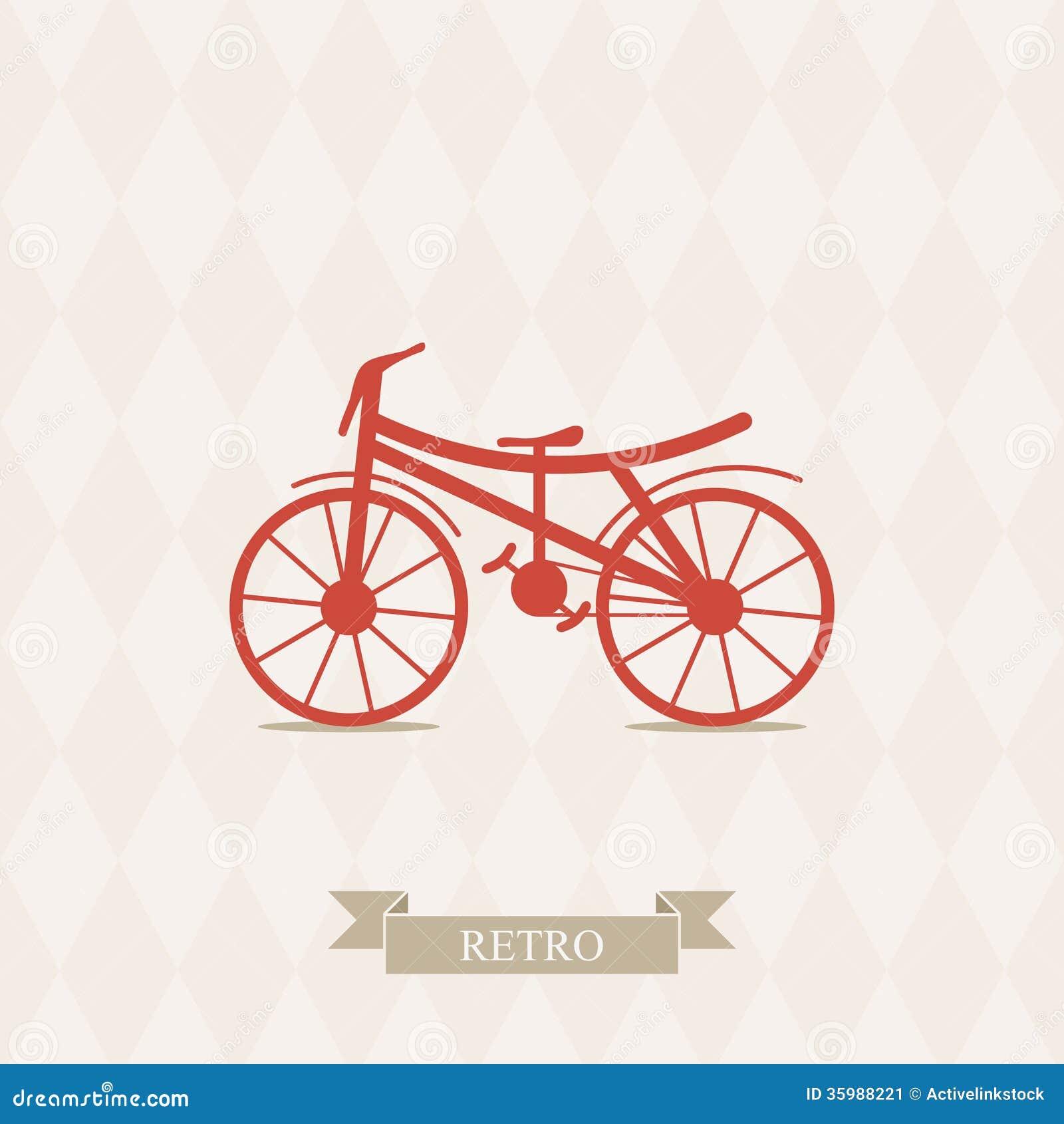 Bicycle illustration retro - photo#9