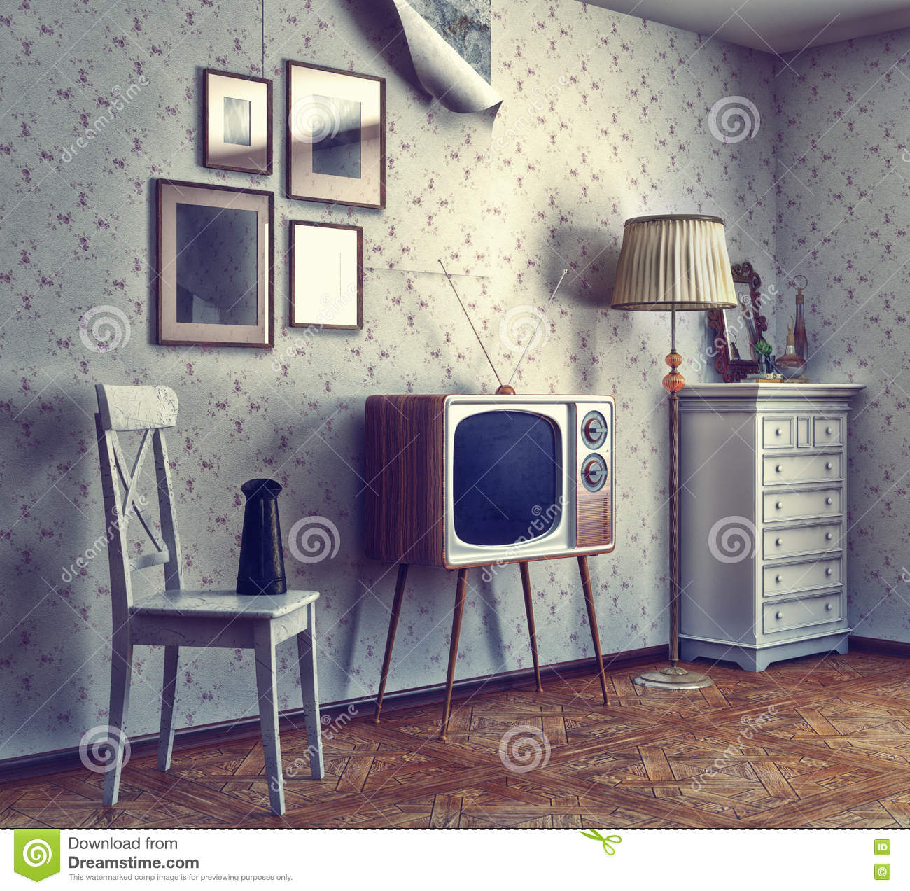 Retro Interior retro interior stock photography - image: 28826882