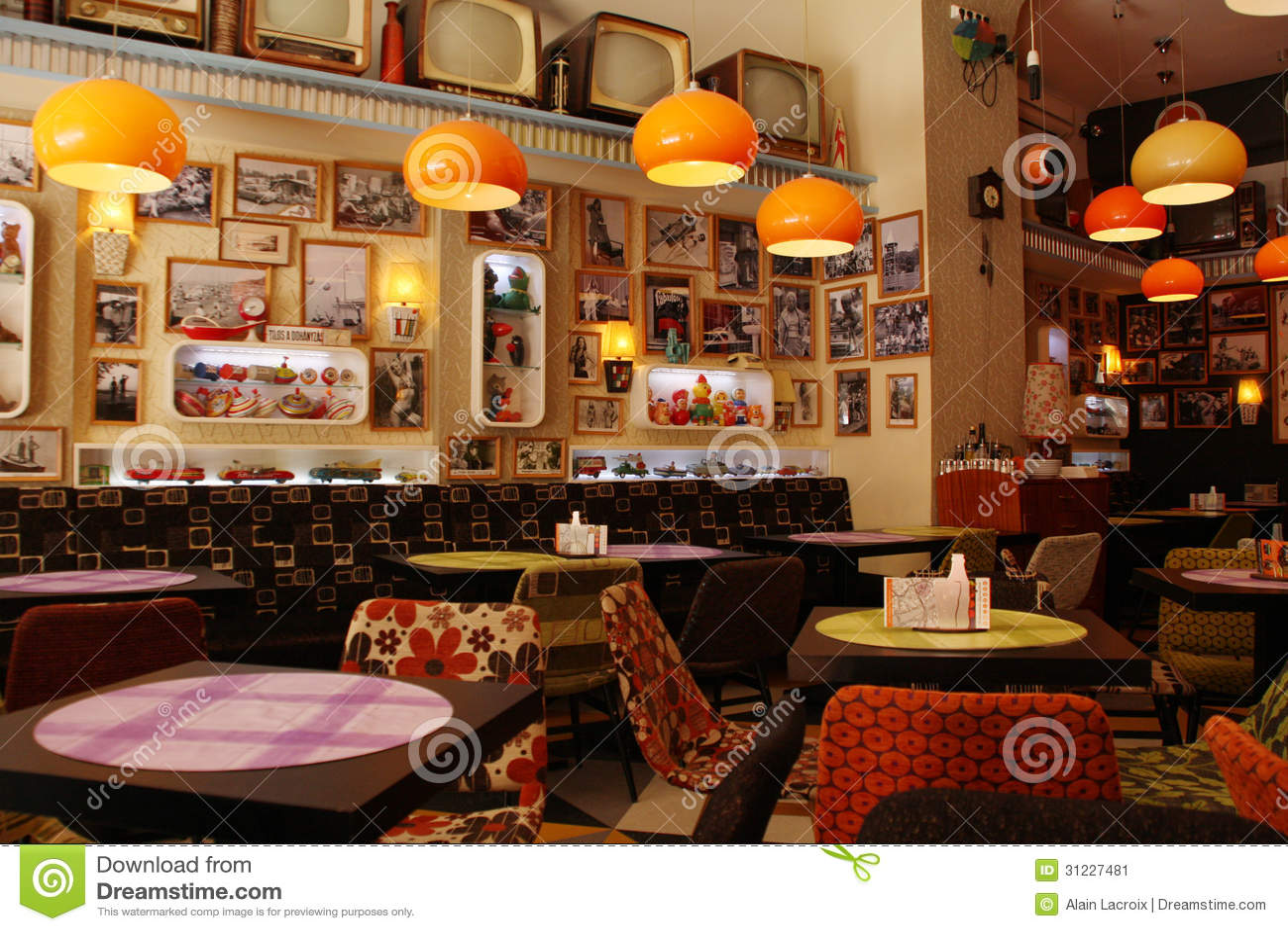 Retro editorial photo image 31227481 for Design interior cafe vintage