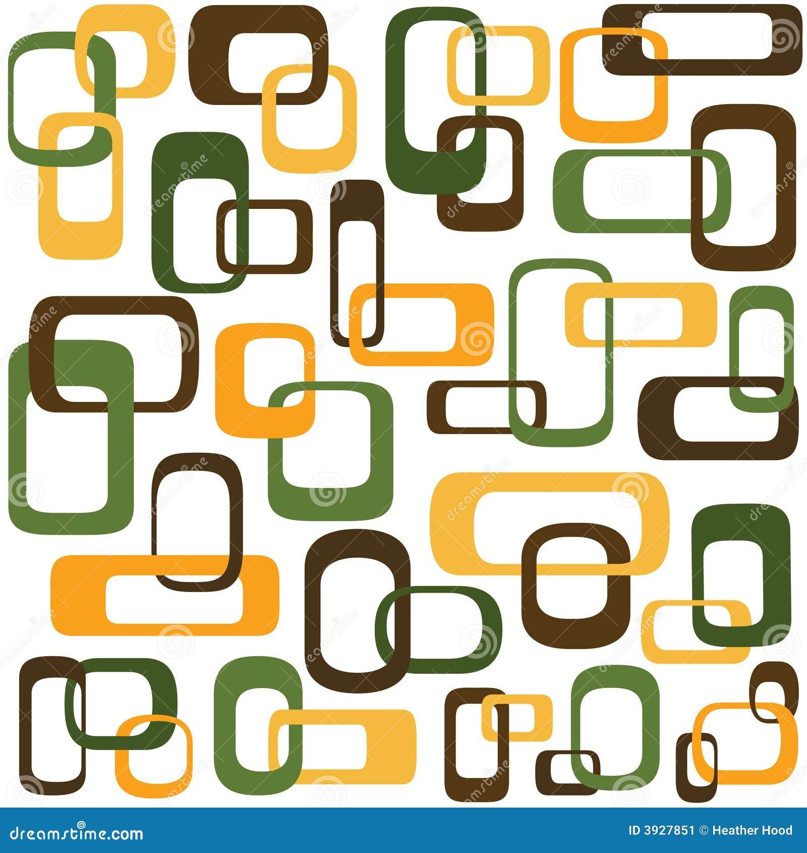 Retro interlocking squares