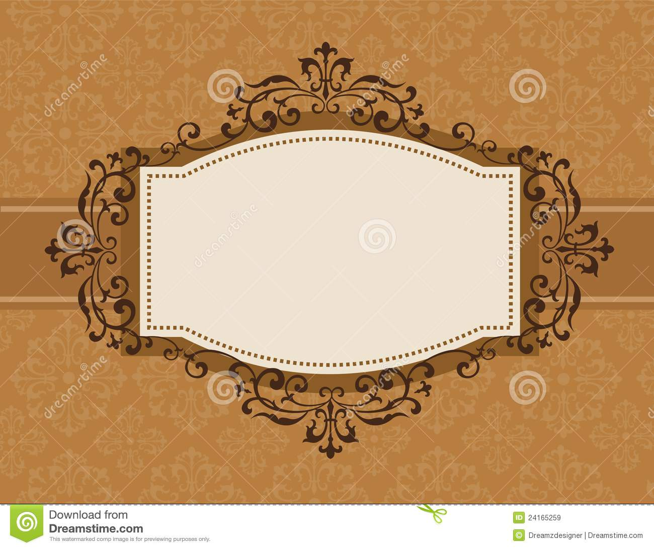 Retro Invitation Background Stock Vector
