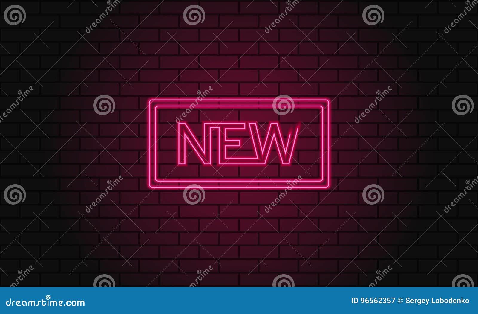 Retro iscrizione del club nuova Insegna elettrica d annata con le luci al neon luminose La luce rosa cade su un fondo del mattone