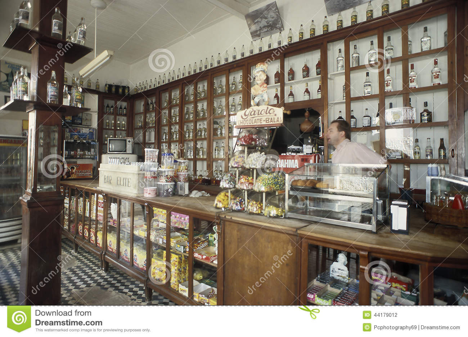 Retro Italian Bar In Santa Teresa, State Of Espirito Santo, Braz ...