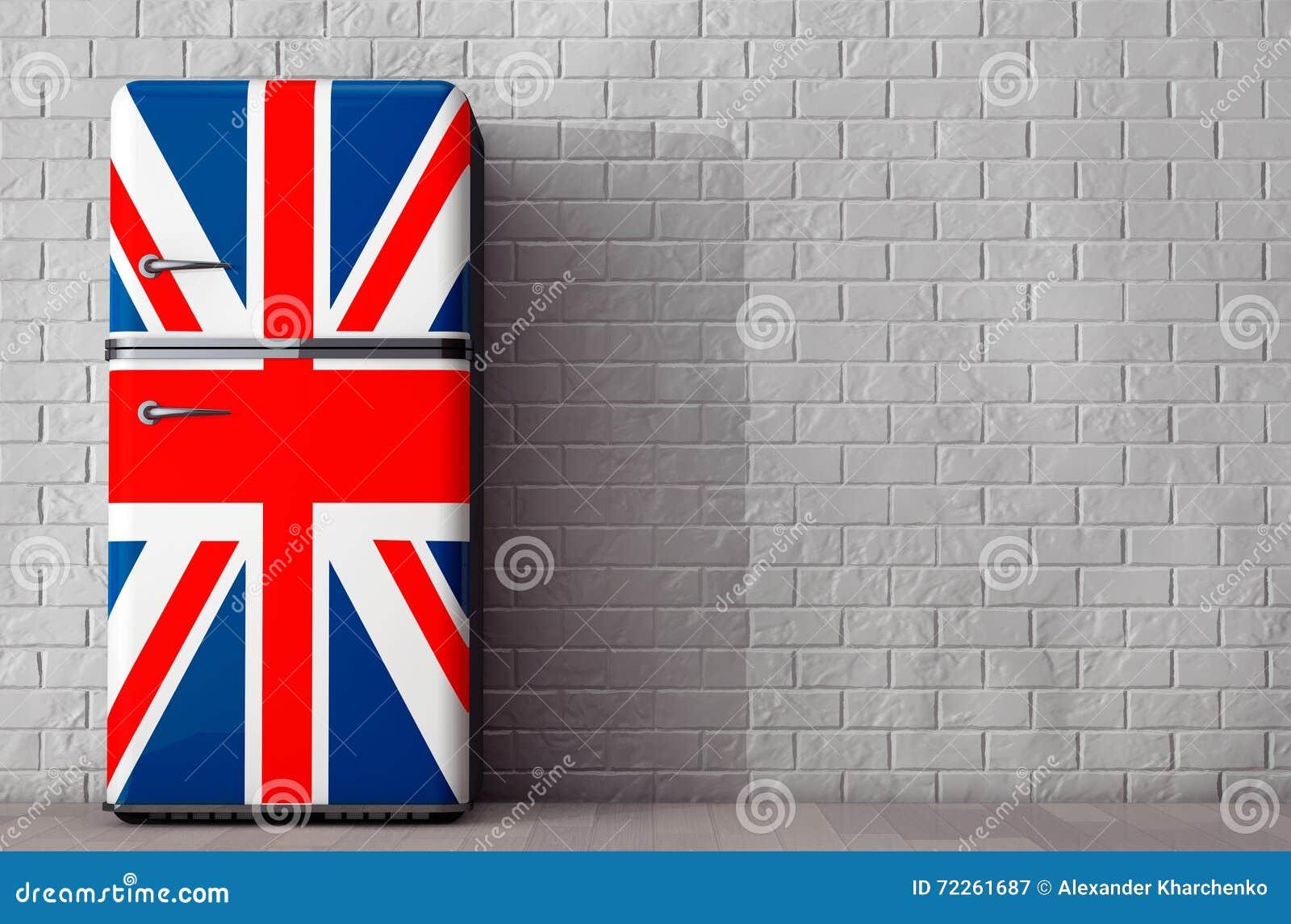 Kühlschrank Usa Retro : Retro kühlschrank mit der britischen flagge wiedergabe 3d stock