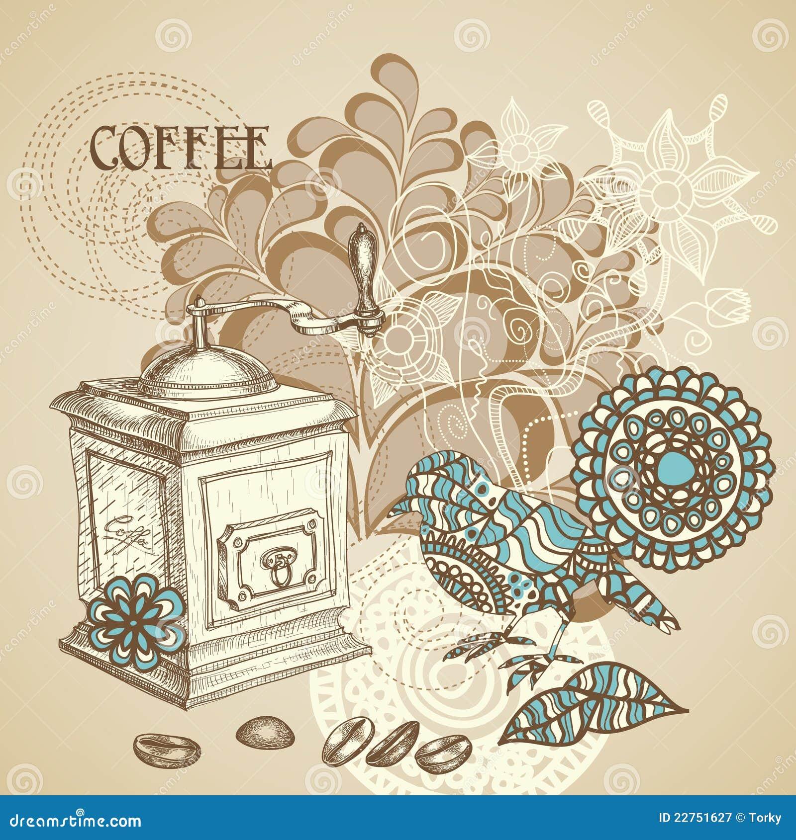 Retro- Kaffeehintergrund