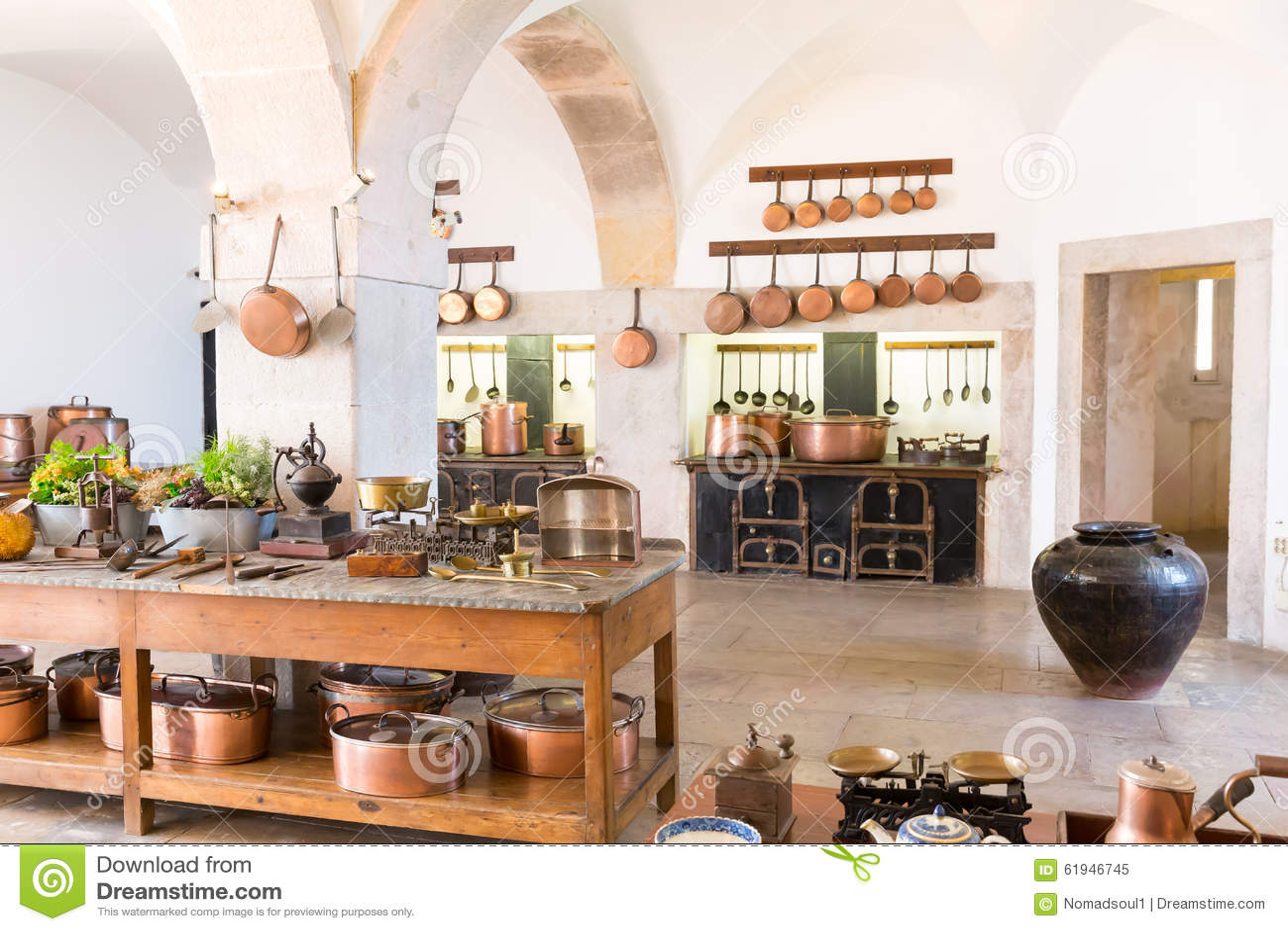 retro- küche stockfoto - bild: 61946745