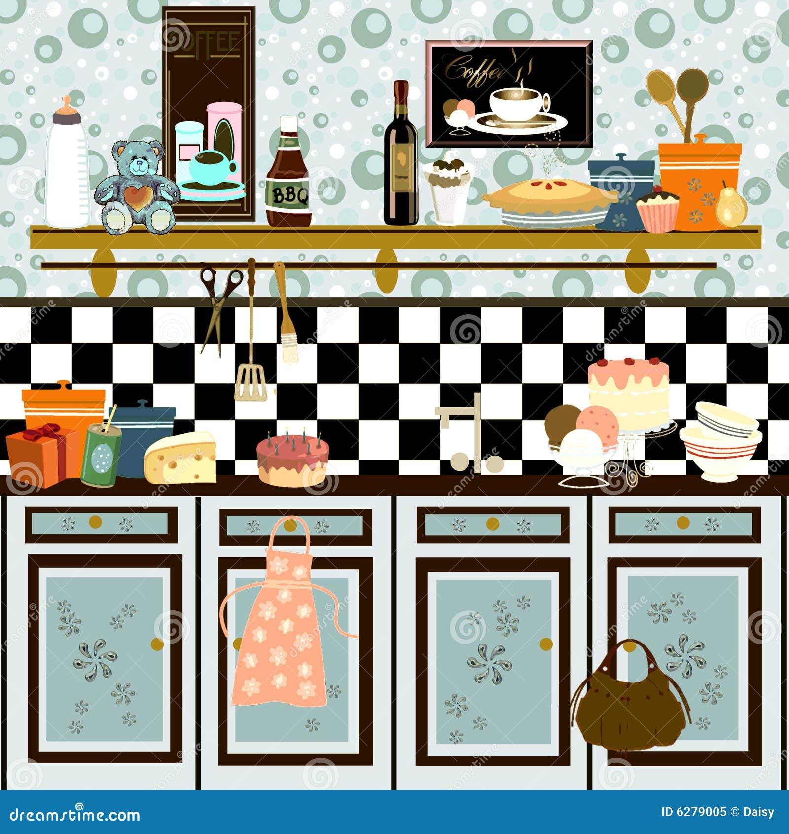 retro- küche der landart stockbilder - bild: 6279064