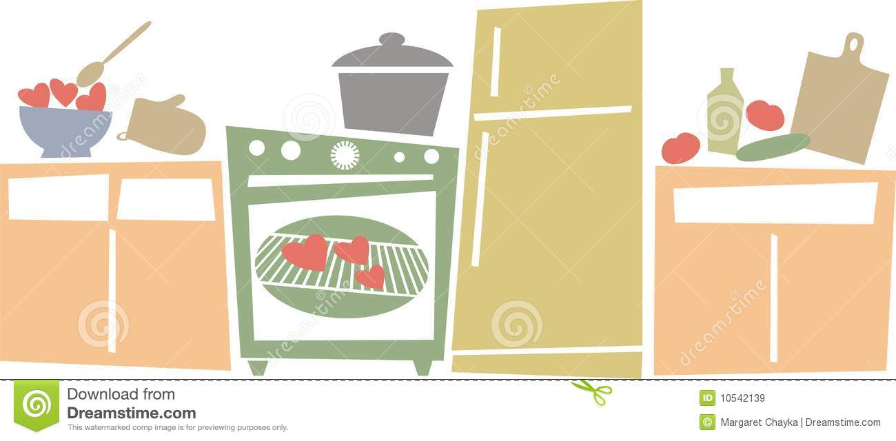 Kitchen Appliances Clip Art ~ Retro kitchen appliances cooking love royalty free stock
