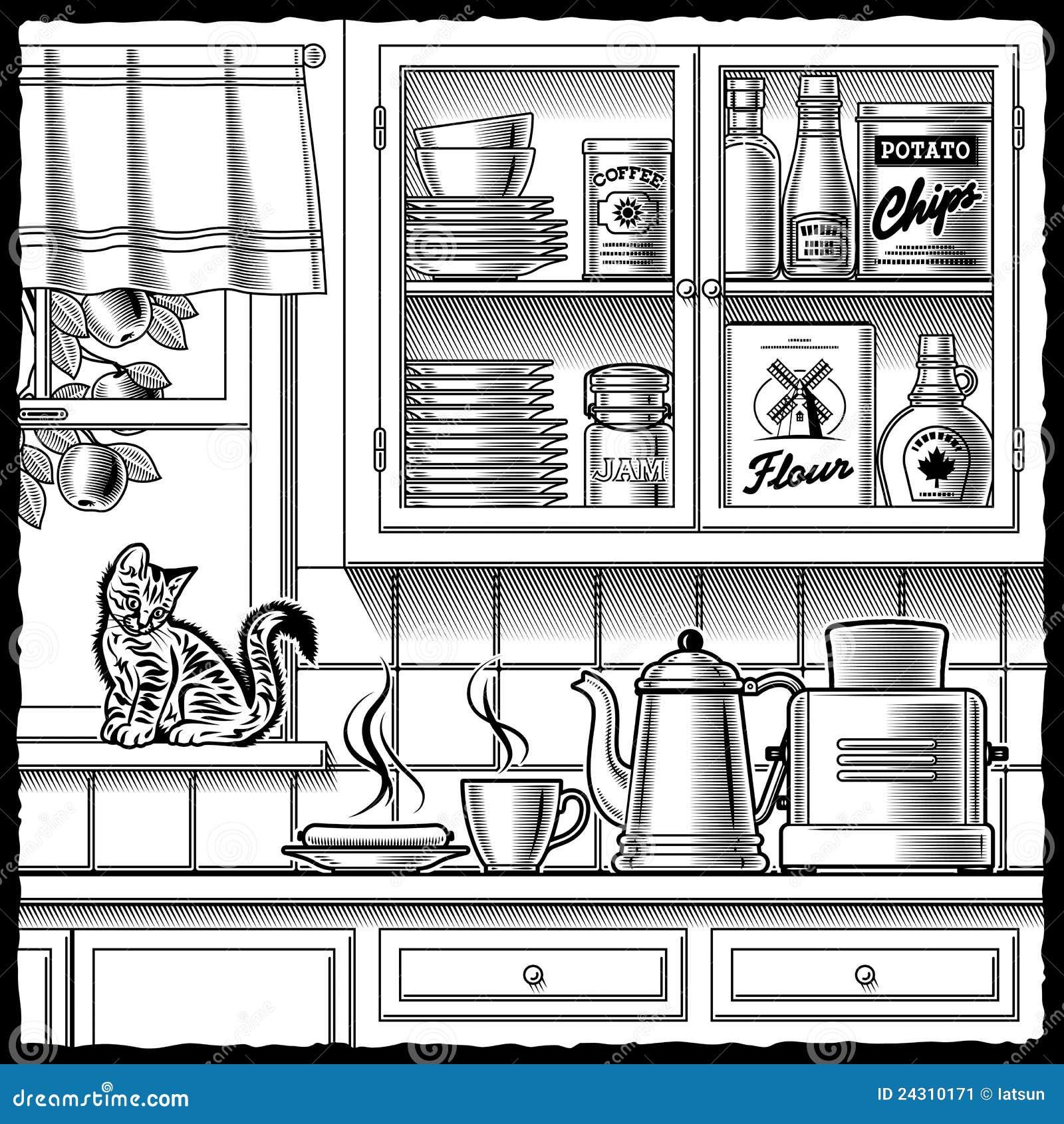 Kitchen Furniture Silhouette: Jar Black Silhouette Art Vector Cartoon Vector