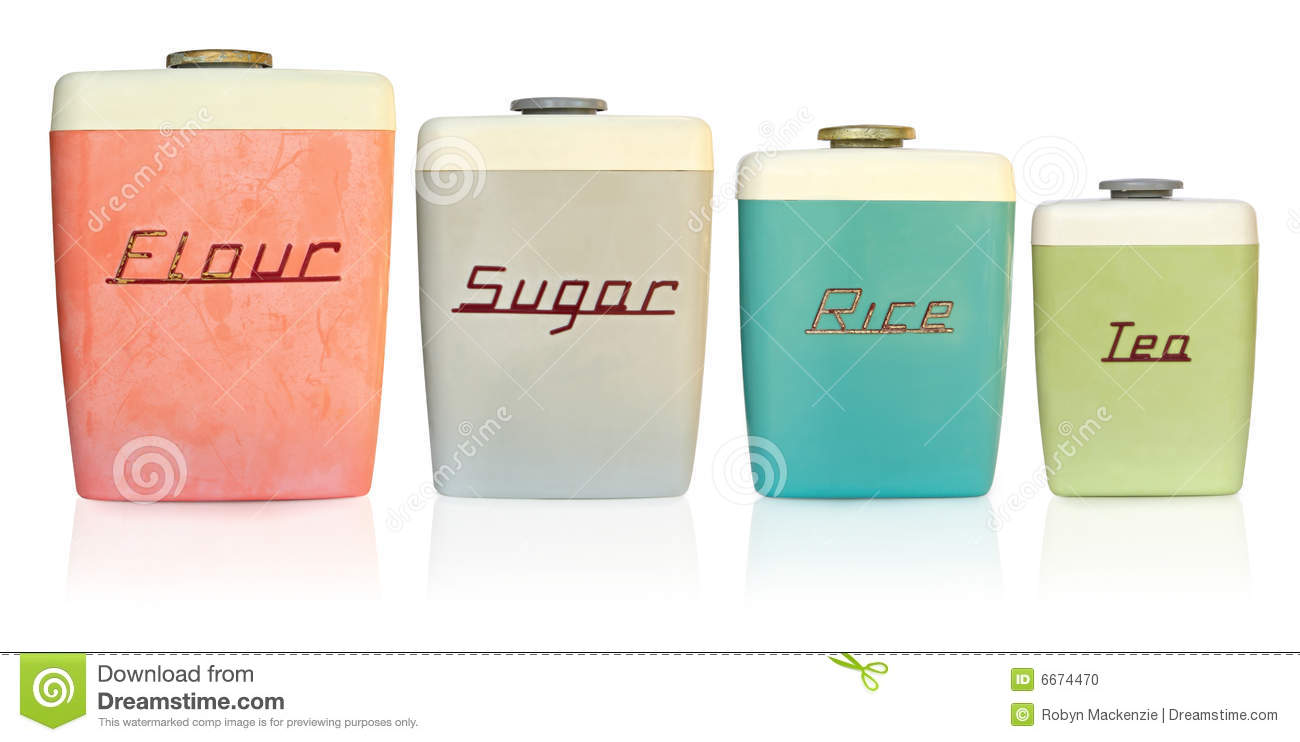 retro kitchen canisters stock photo image 6674470 retro kitchen canisters stock photo