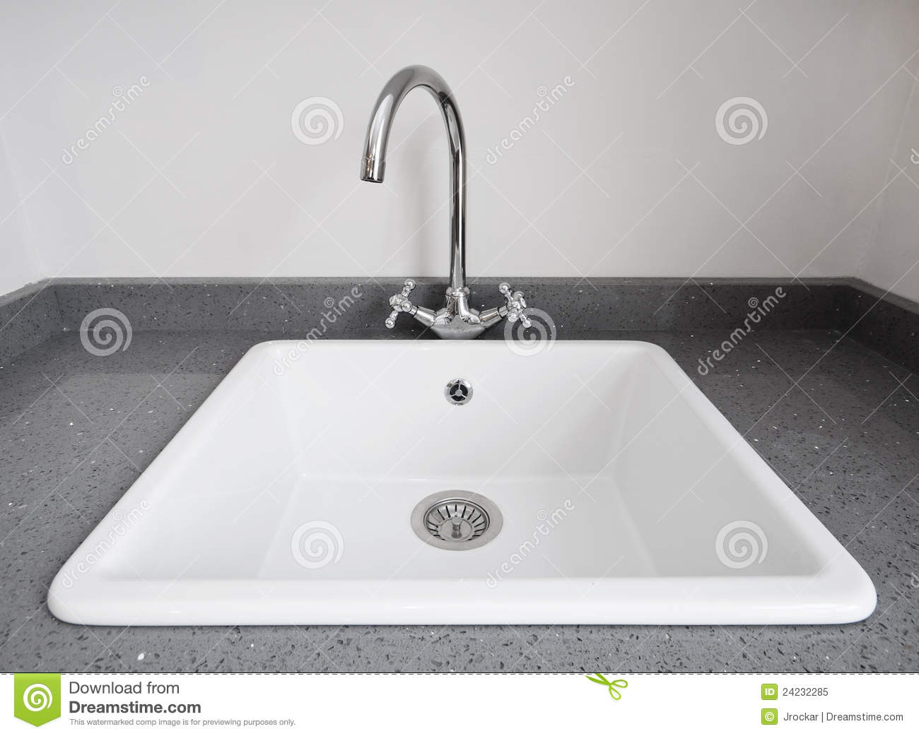 Retro Kitchen Sink Stock Image Image Of Stainless