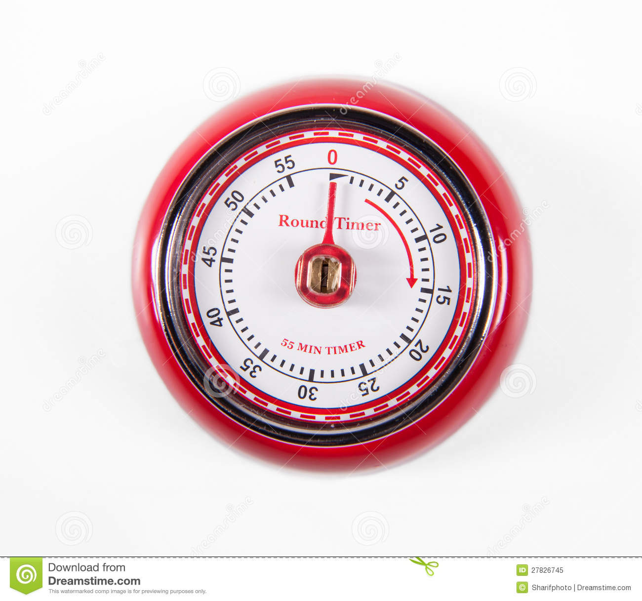 Retro Kitchen Timer Stock Image. Image Of Mechanical