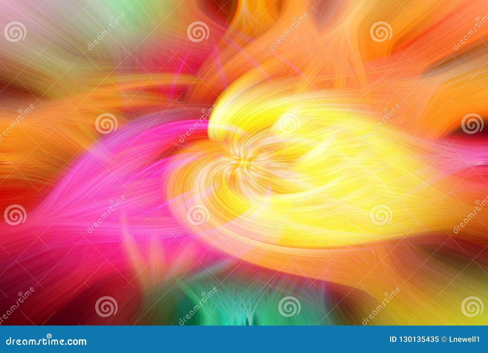 Retro kleurrijke abstracte roes en wervelingen