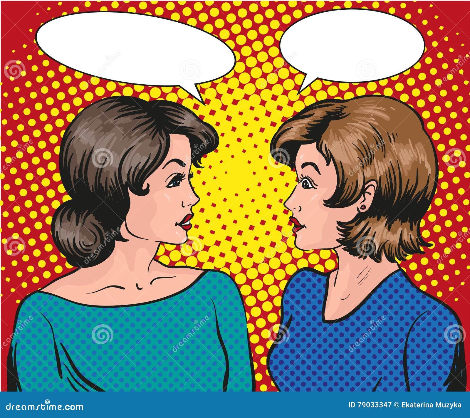 Zwei frauen flirten miteinander