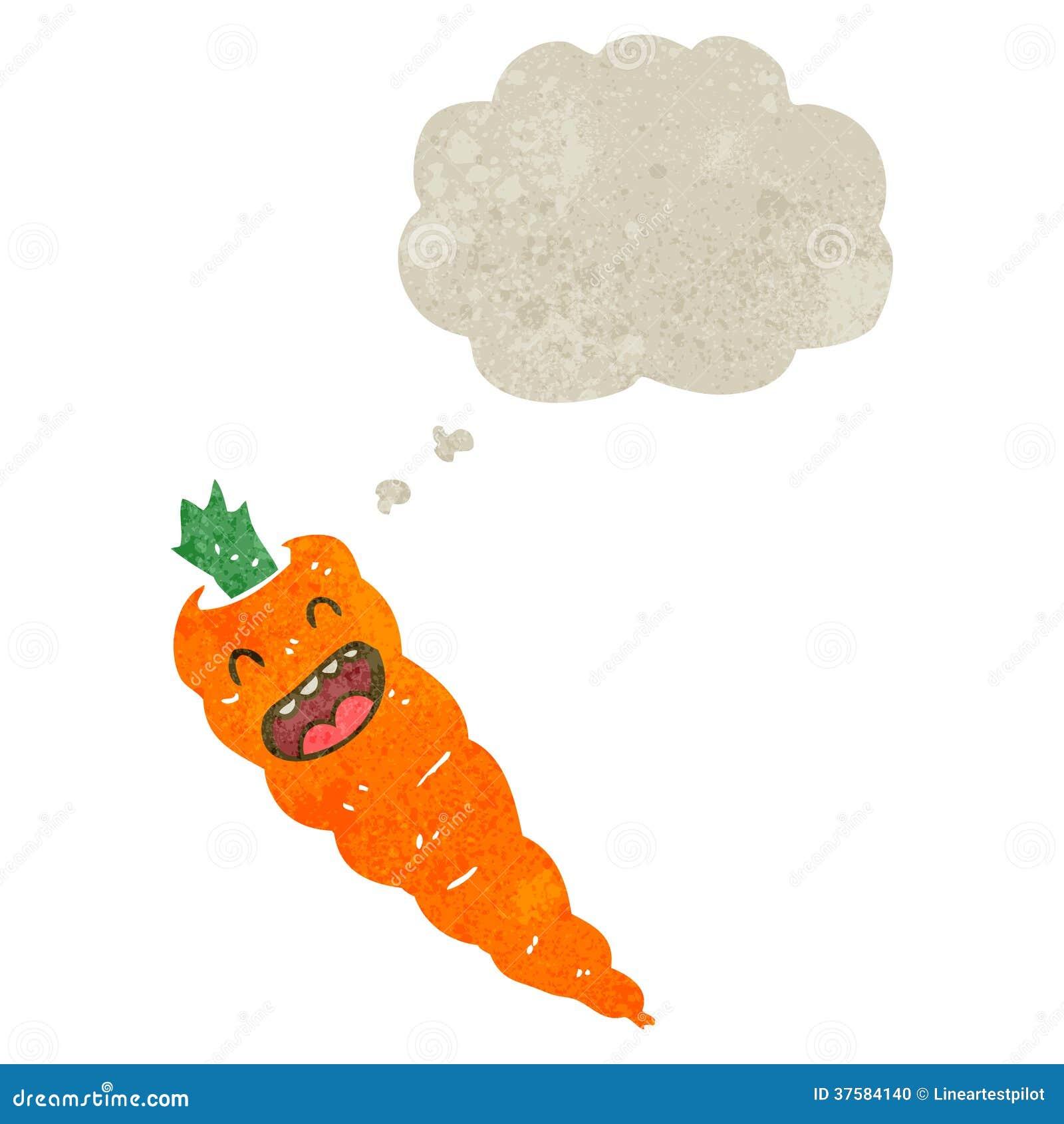 Retro kreskówki marchewka