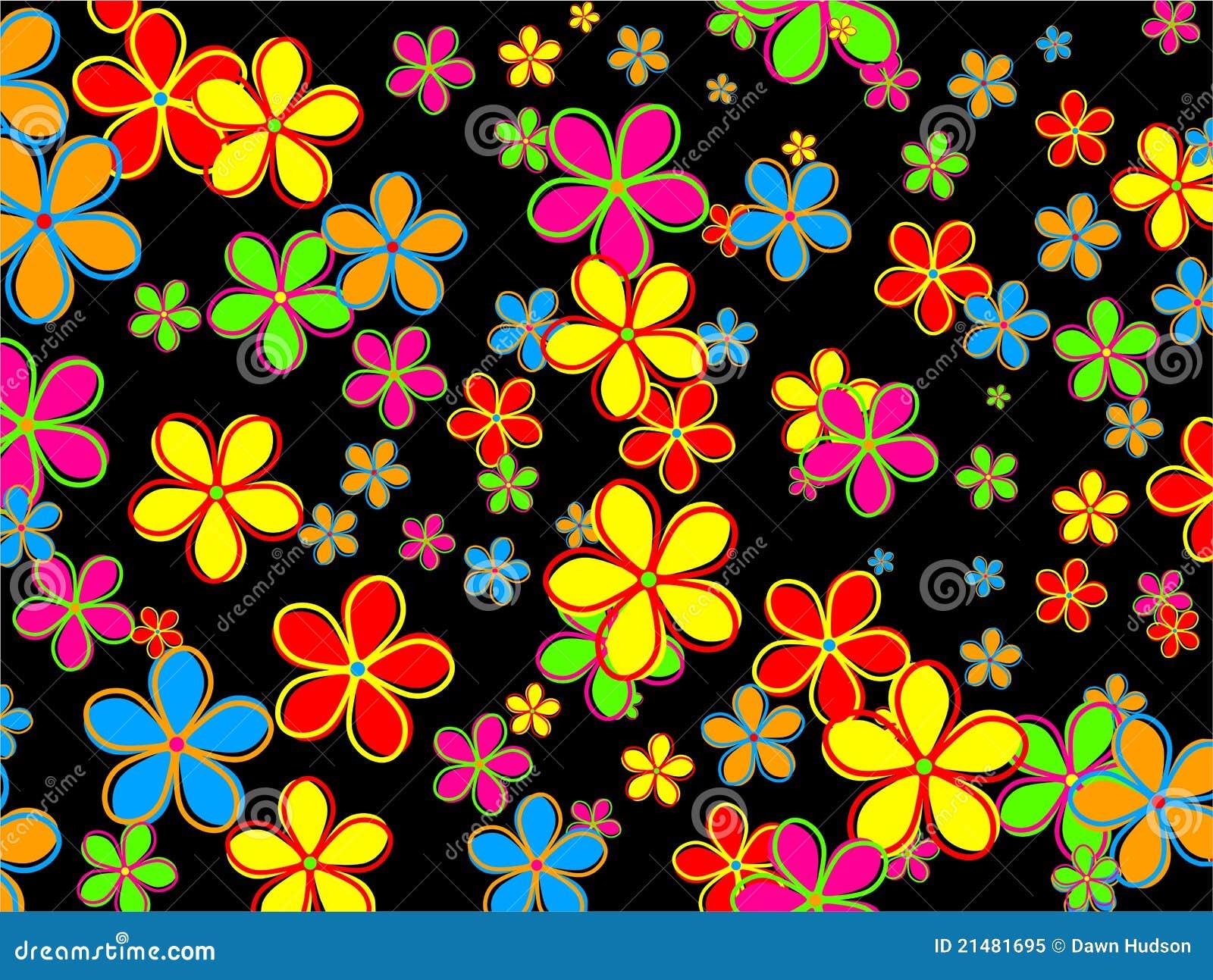Retro Kwiatu Tapetowy Projekt