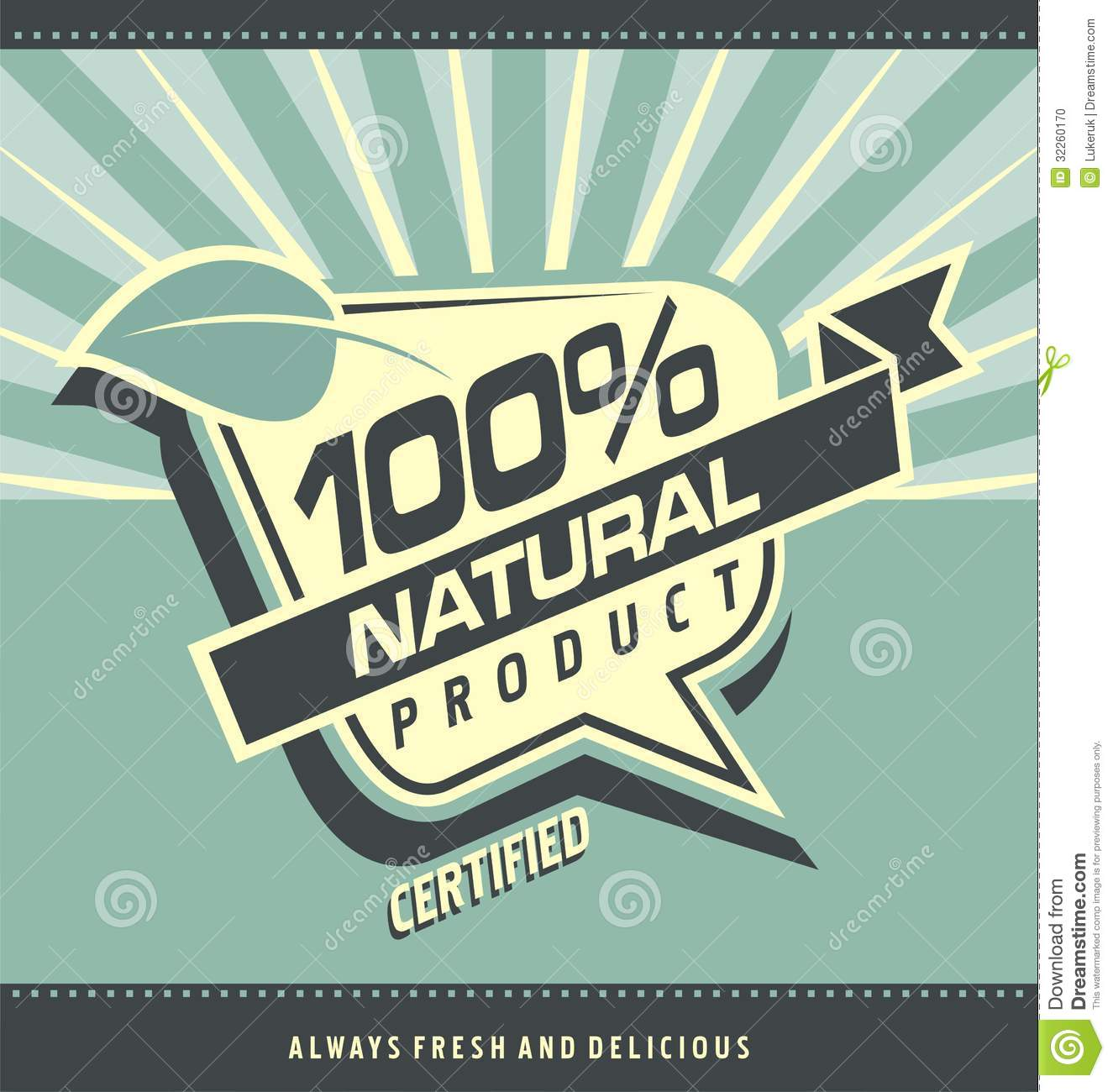 retro label for organic food stock vector - illustration of labels