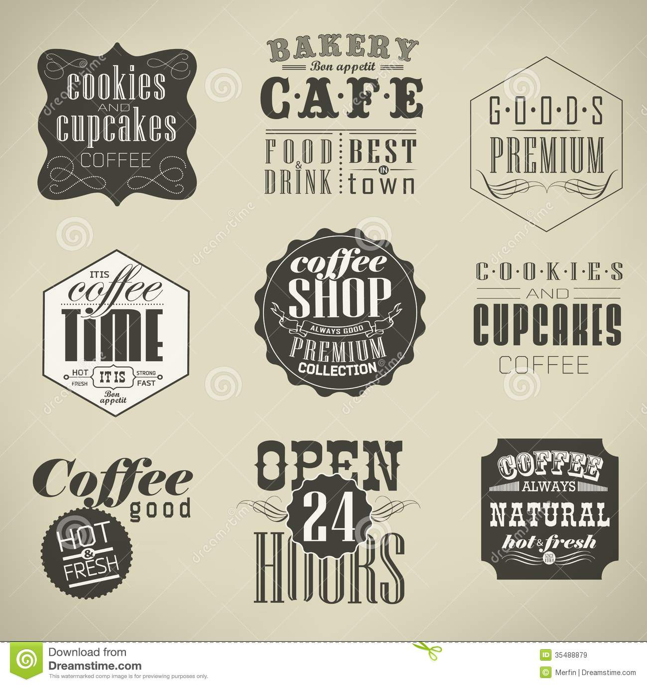 Retro Labels And Typography Stock Vector Image 35488879