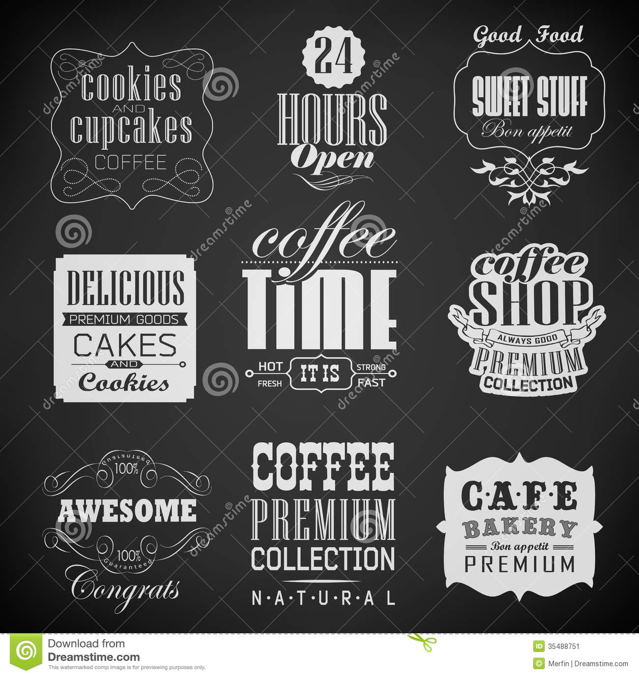 Retro Labels And Typography, Stock Image