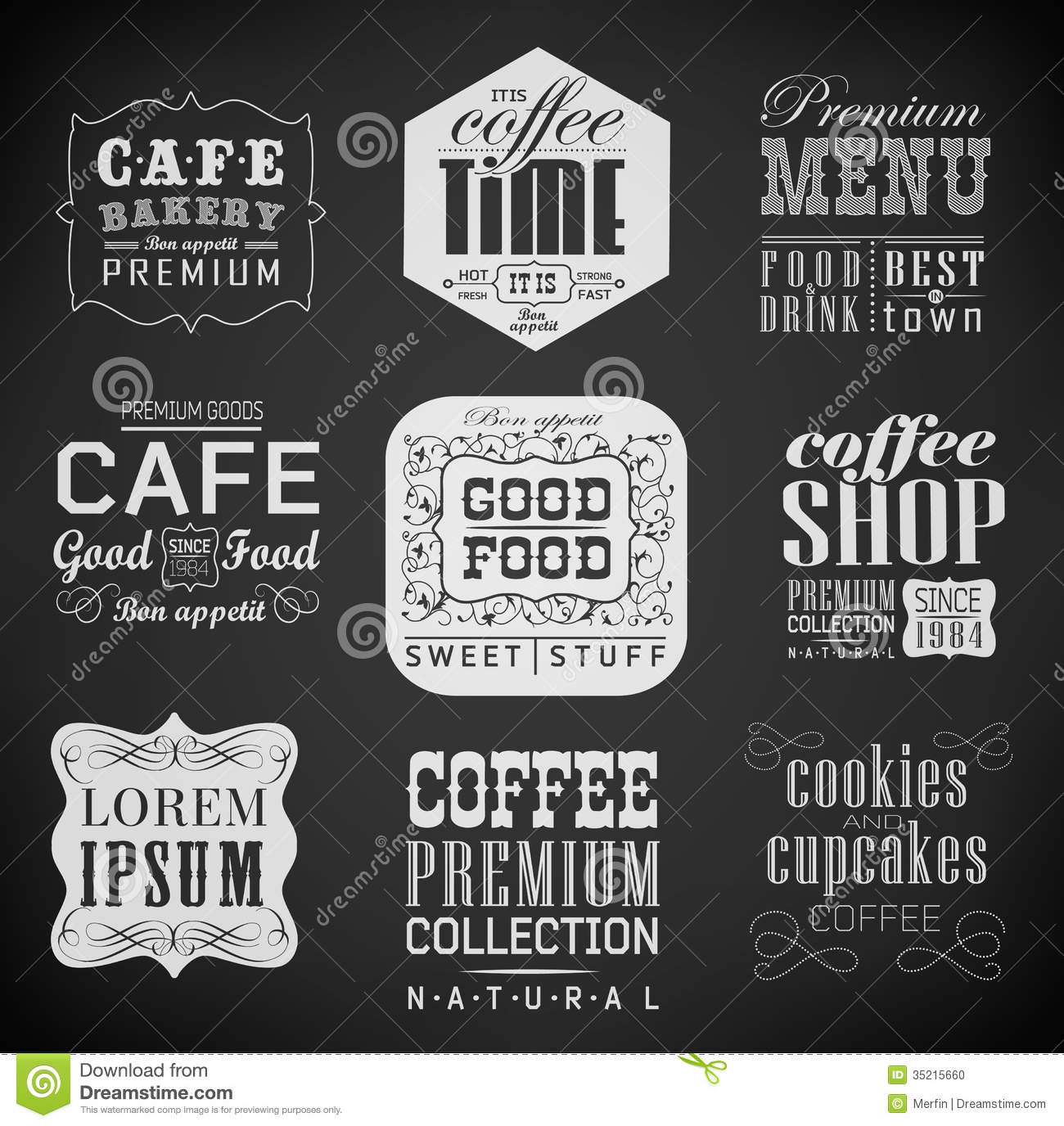 retro labels and typography stock vector image 35215660