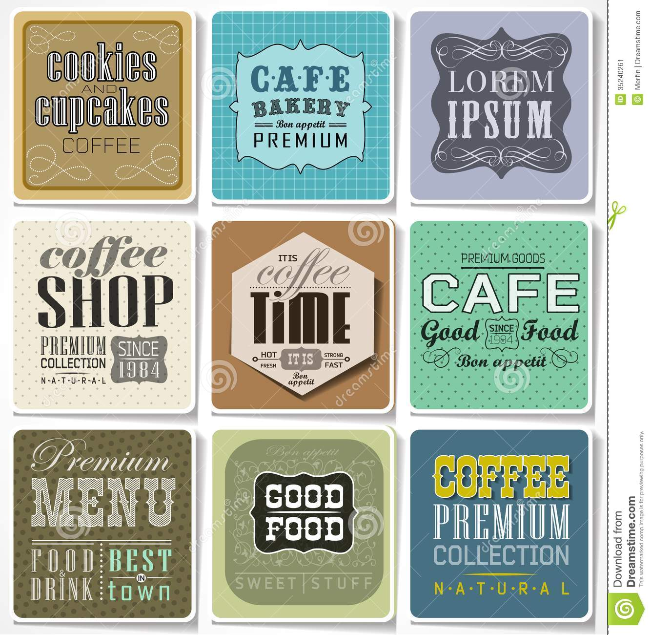 Retro Labels And Typography , Stock Vector