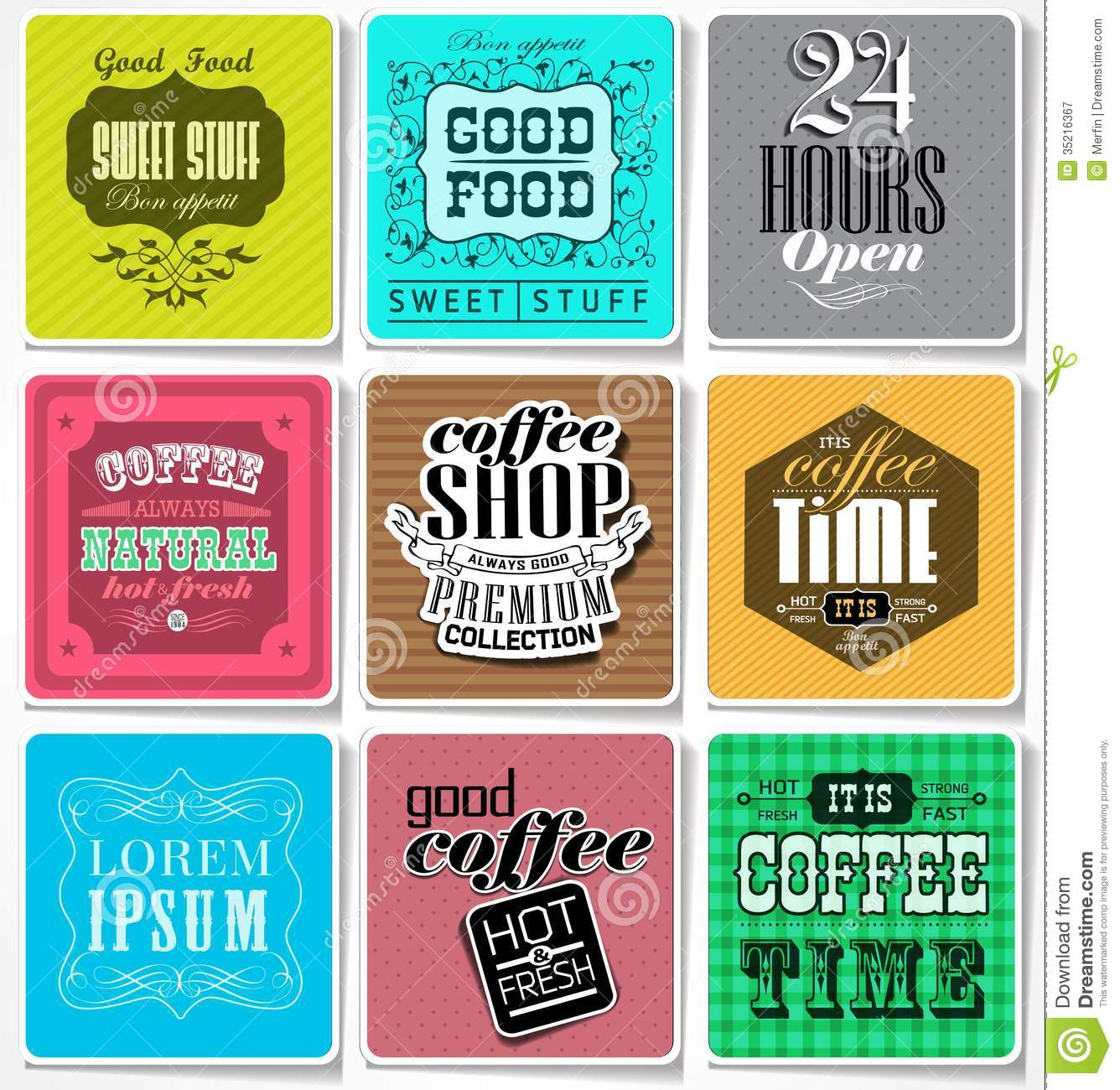 Retro Labels And Typography Royalty Free Stock