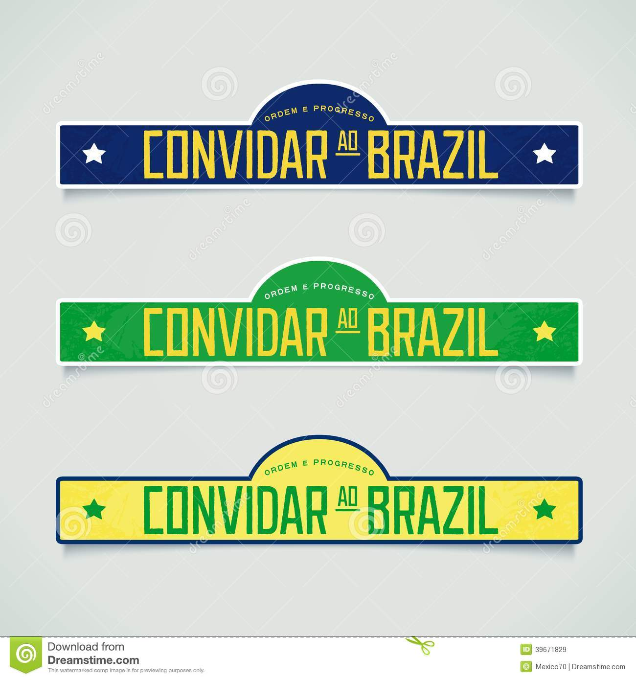retro labels welcome to brazil stock vector illustration of