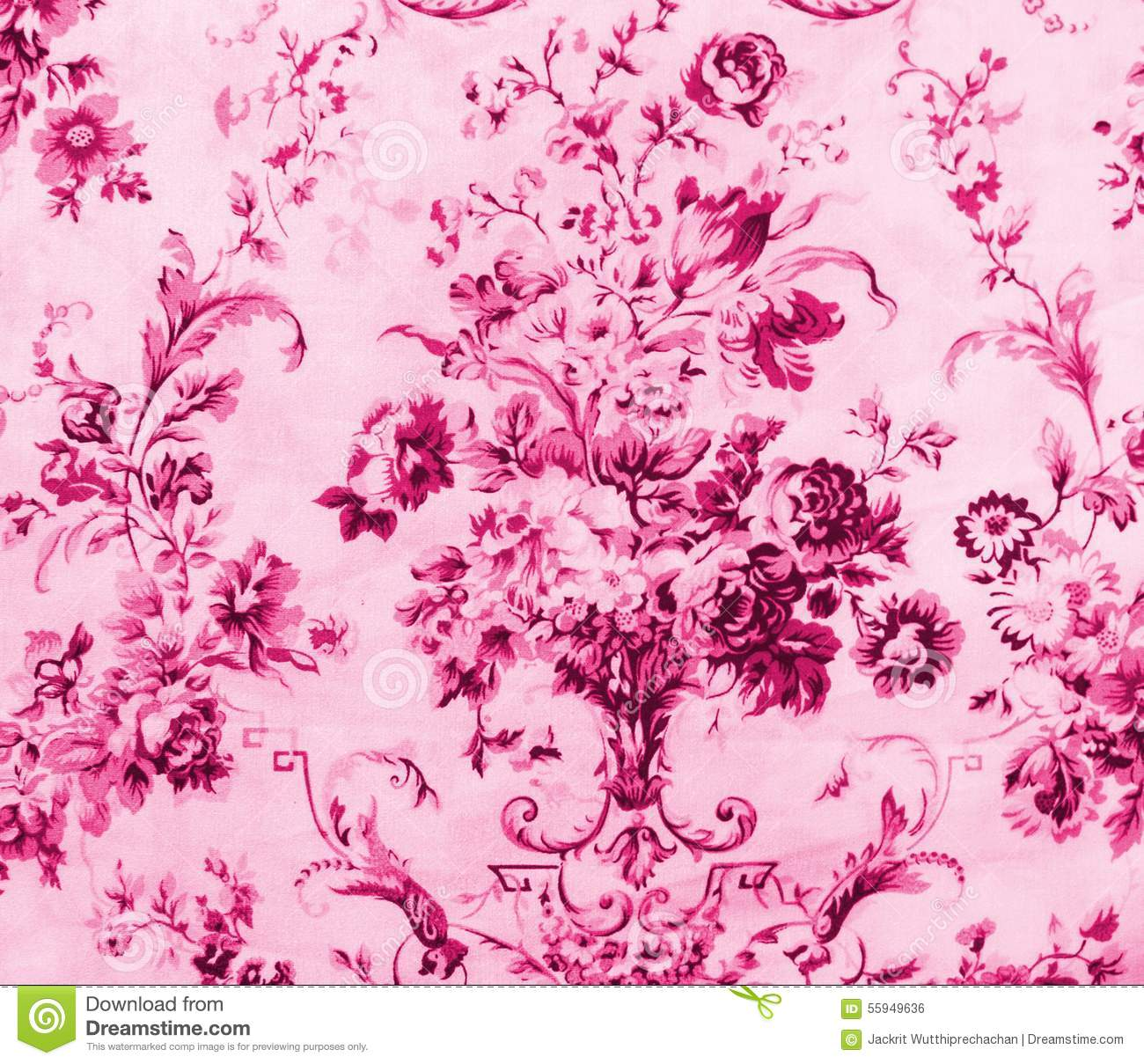 Seamless pink floral pattern - photo#40
