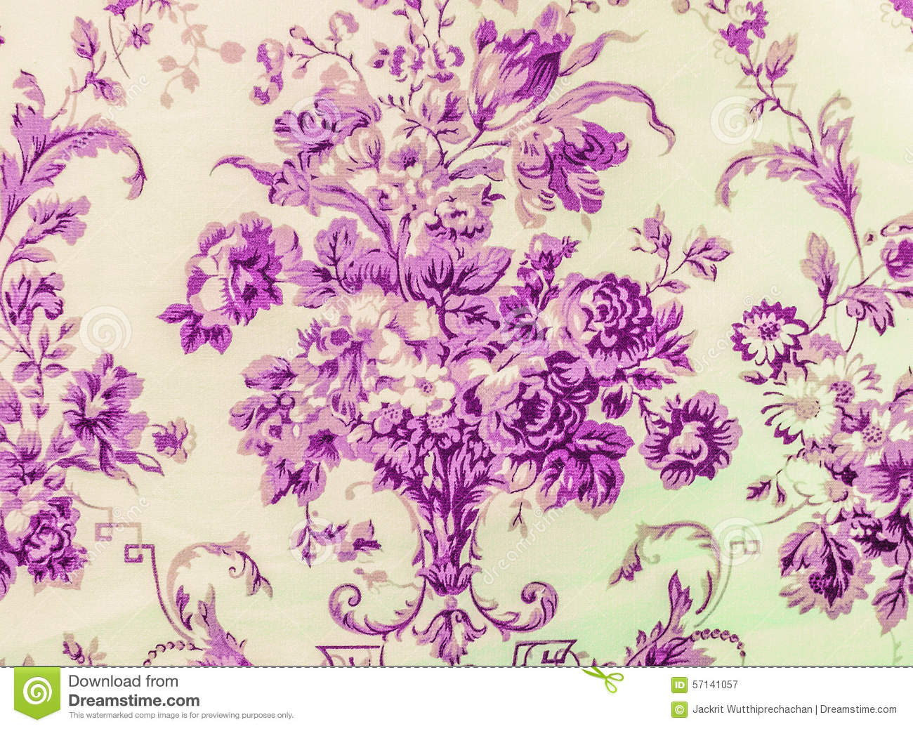 Purple vintage floral pattern - photo#21