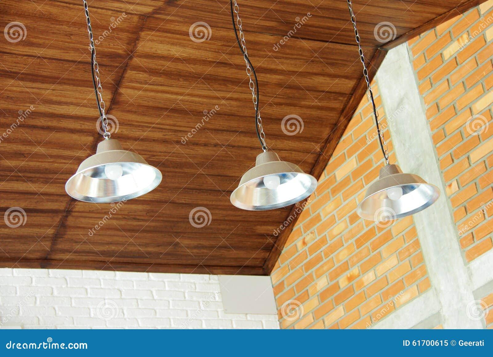 Retro lampade del soffitto immagine stock immagine di