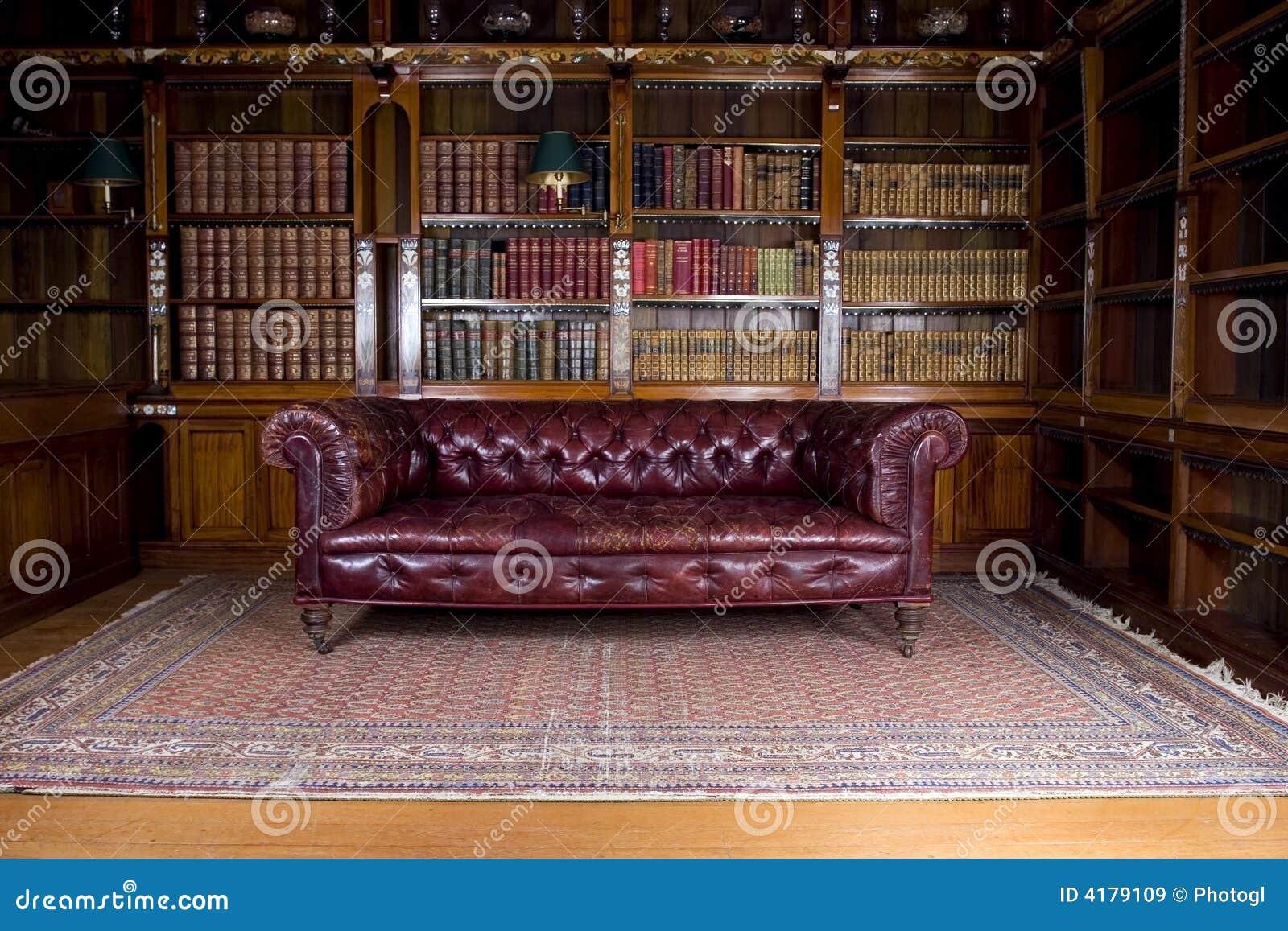 Retro leather couch stock image. Image of dark, retro - 4179109