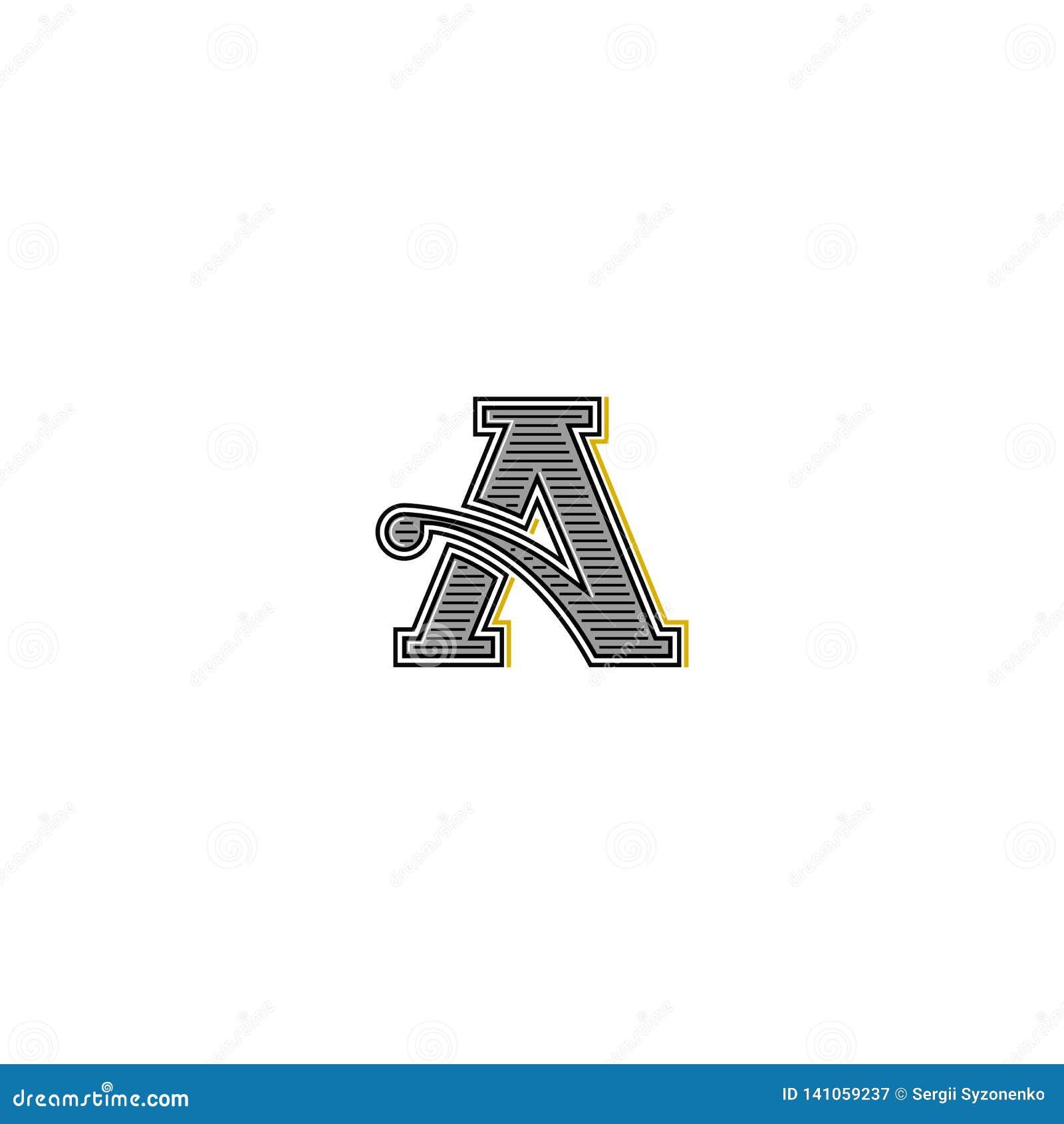 Retro Letter Logo Typography Monogram Wedding Invitation