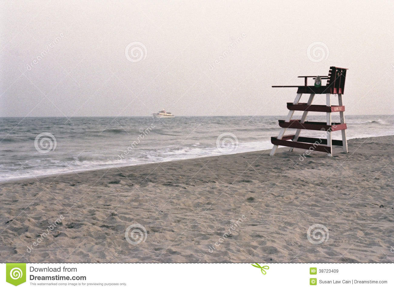 Retro Life Guard Chair Stock Image Image Of Fashioned