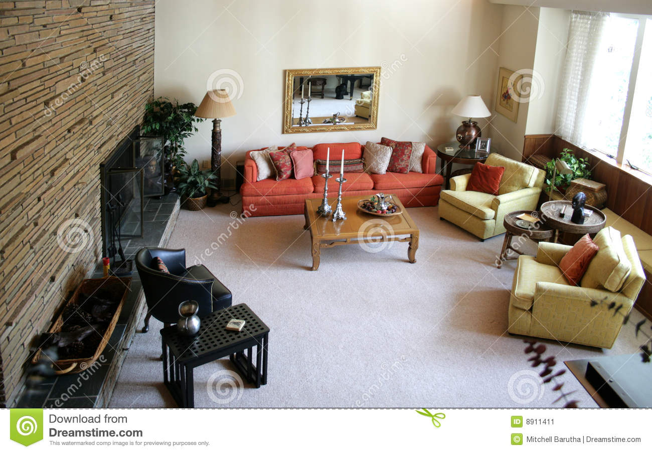 Retro Living Rooms Retro Living Room Stock Image  Image 8911411