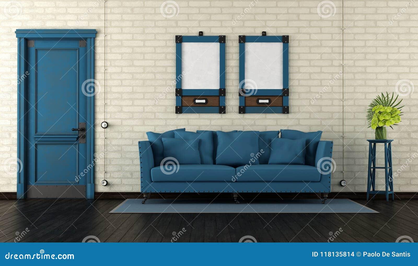 Retro Living Room Stock Illustration Illustration Of