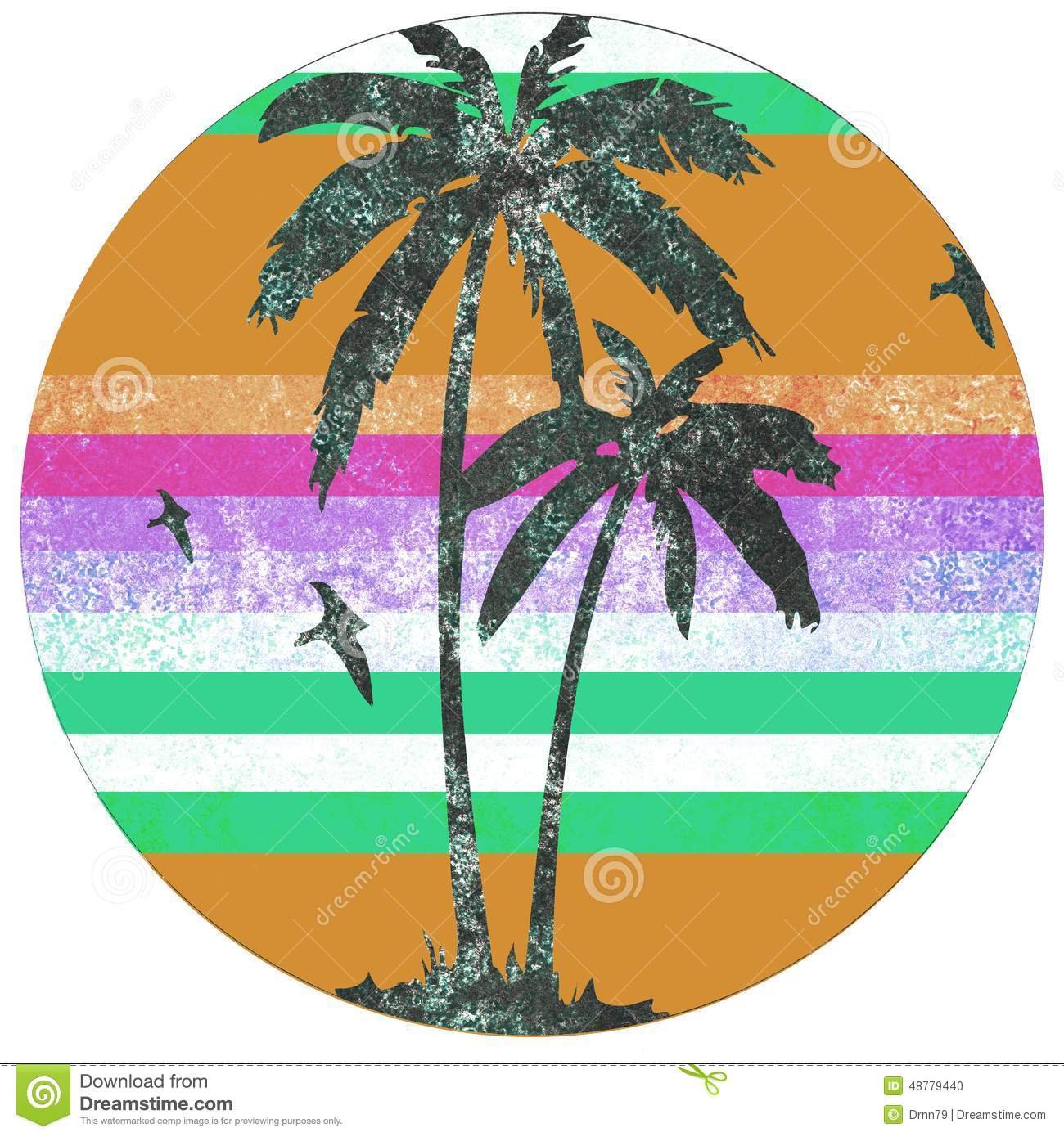 Retro- Logo Palm Beach stock abbildung. Illustration von ...