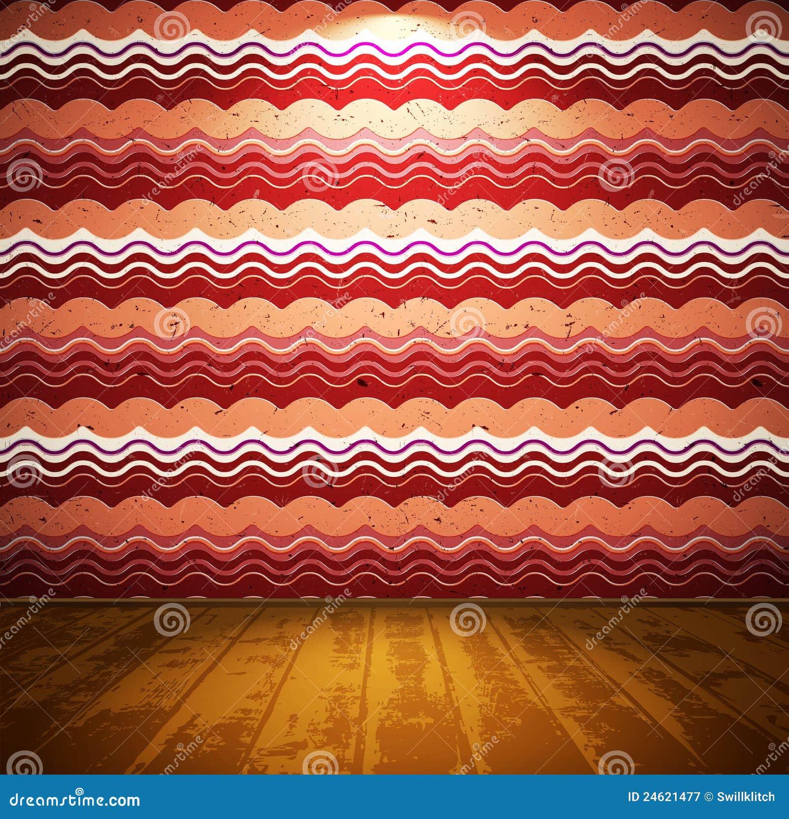 Retro lokal med den wavy wallpaperen
