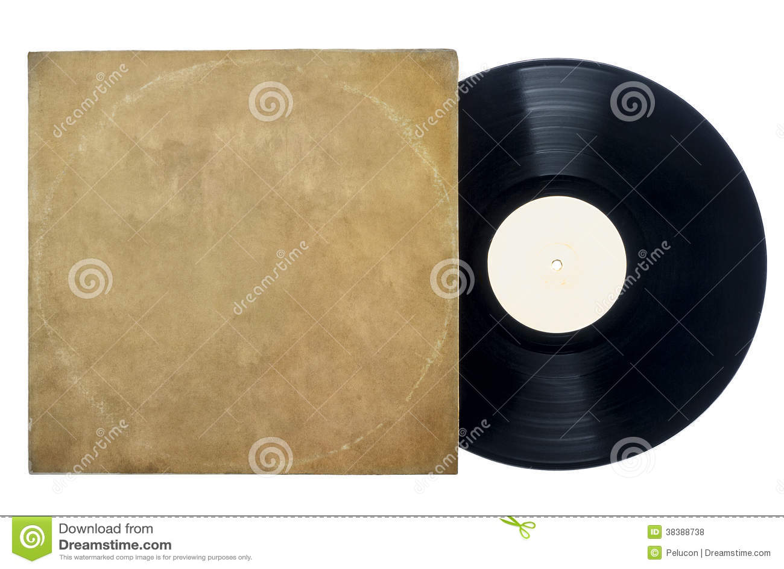 Retro Long Play Vinyl Record With Sleeve Royalty Free