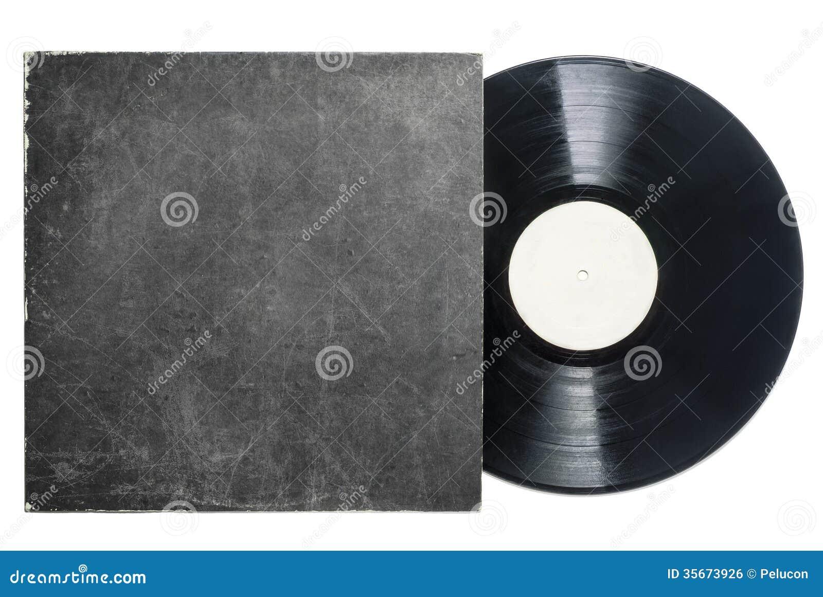 Retro LPvynilrekord med muffen