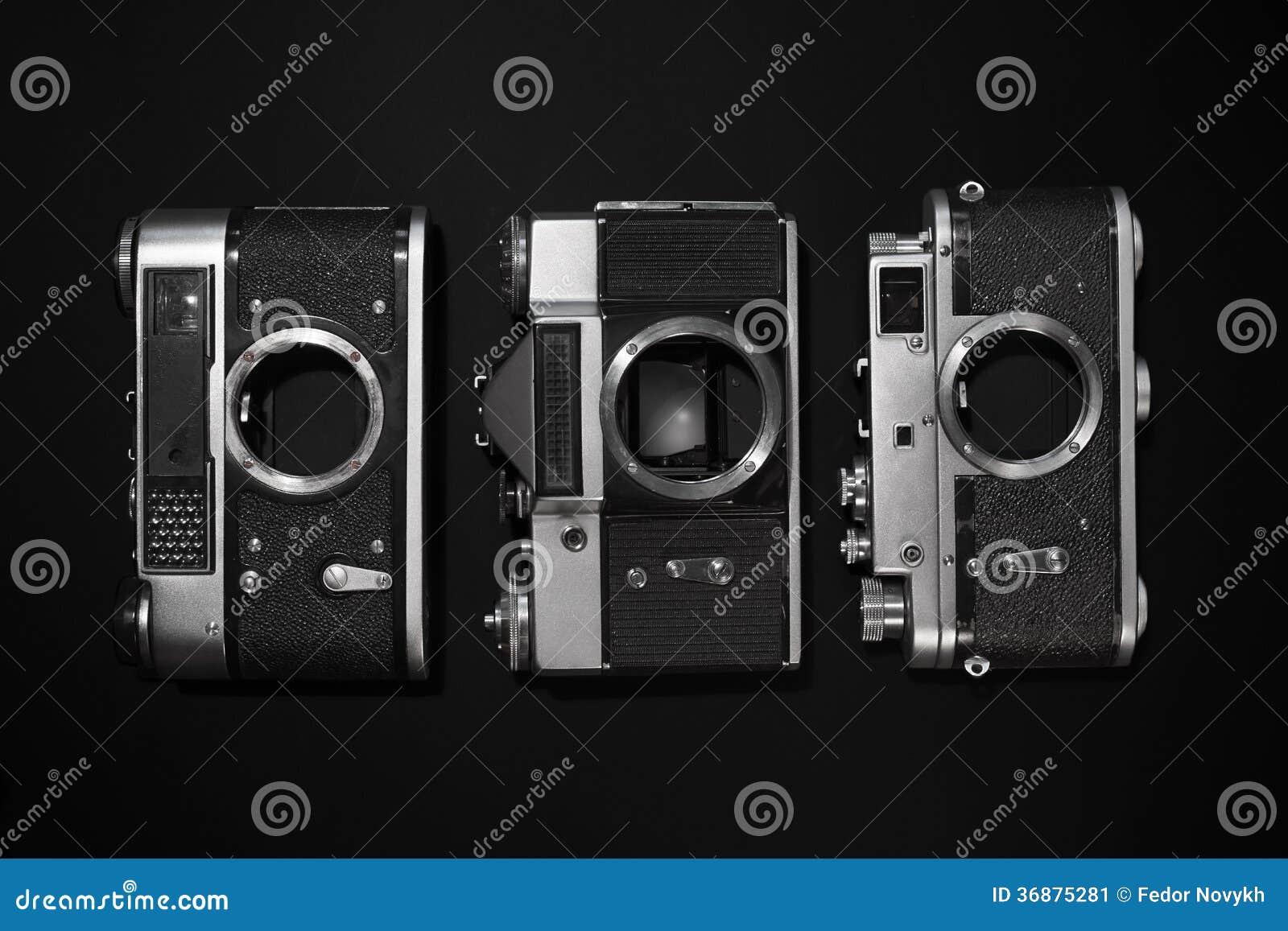 Download Retro Macchine Fotografiche Immagine Stock - Immagine di contrasto, pellicola: 36875281