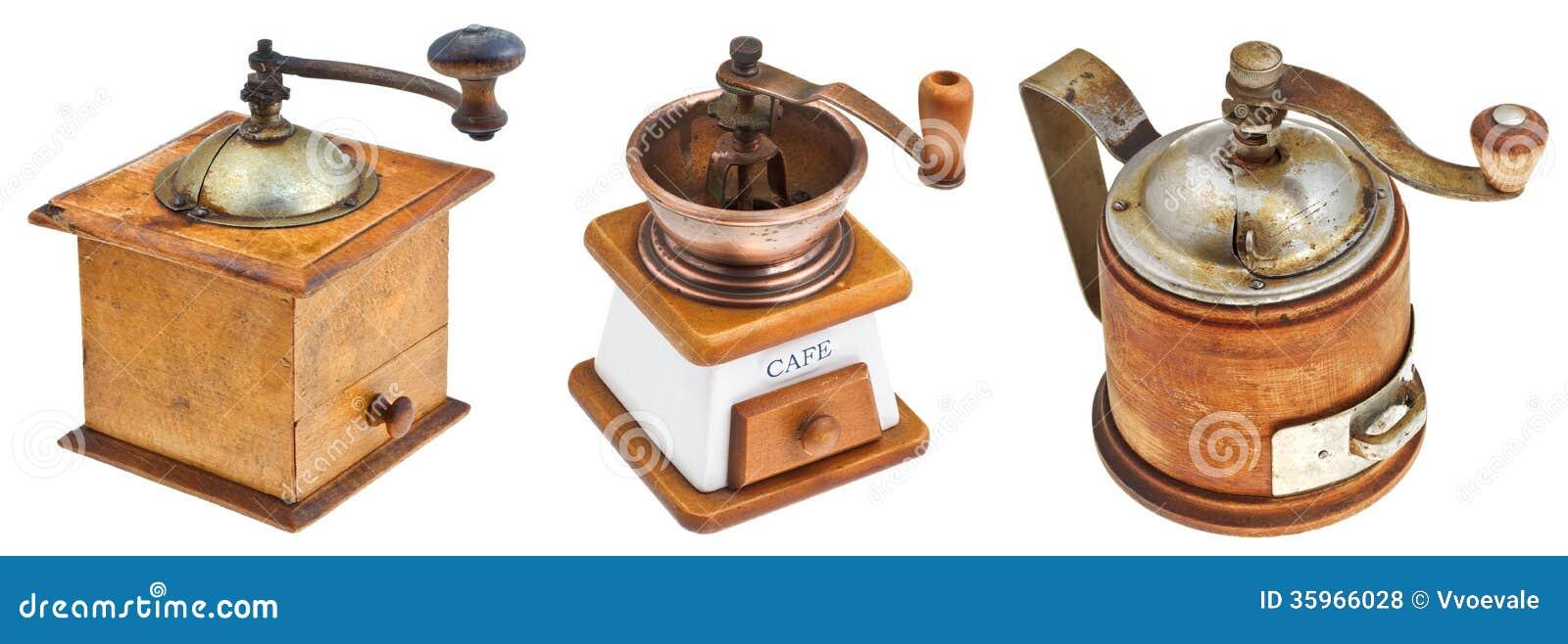 Retro- Manuelle Kaffeemühlen Lizenzfreie Stockfotos - Bild: 35966028   {Kaffeemühlen 13}