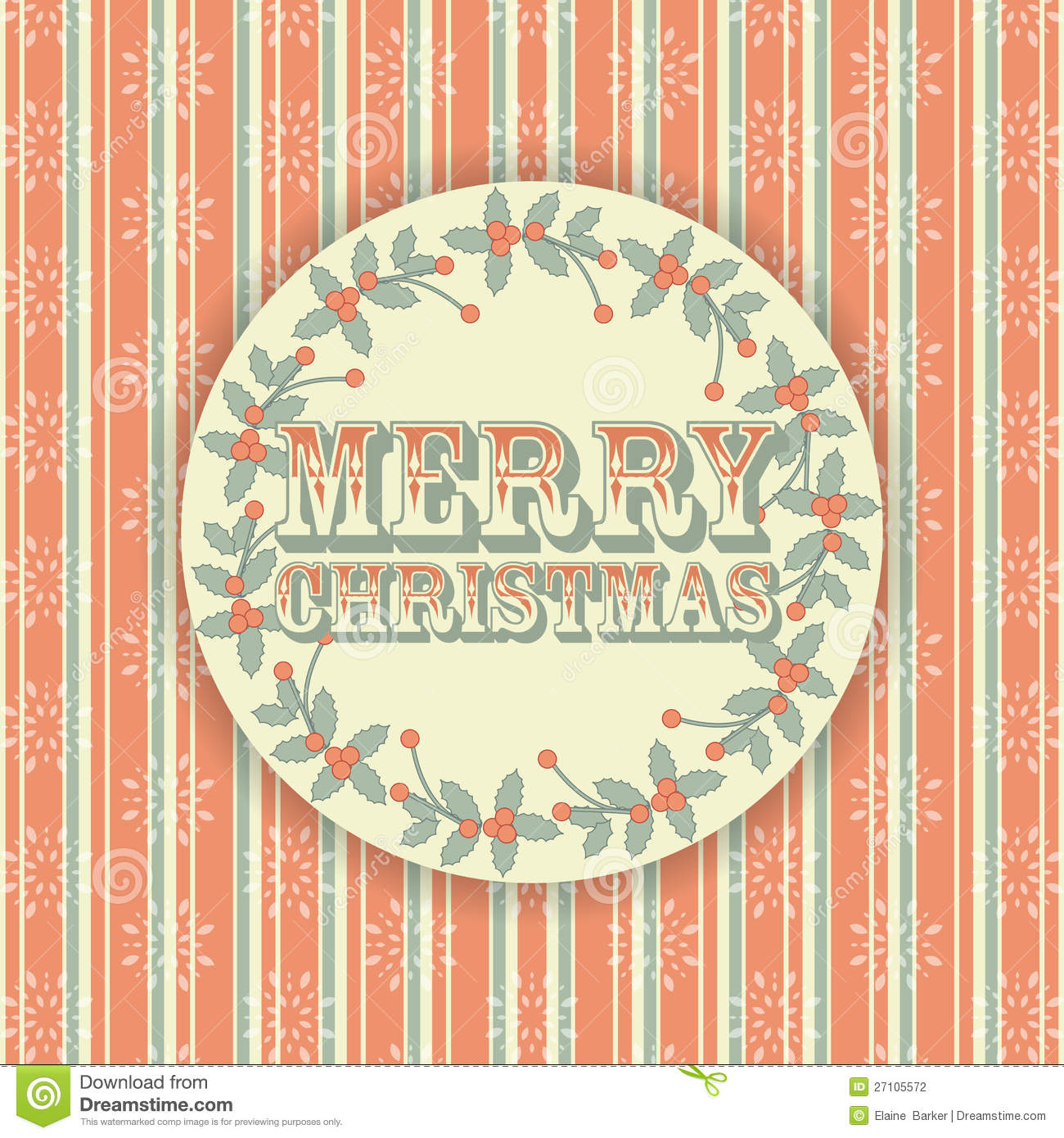 Retro Merry Christmas Background Stock Vector - Image ...